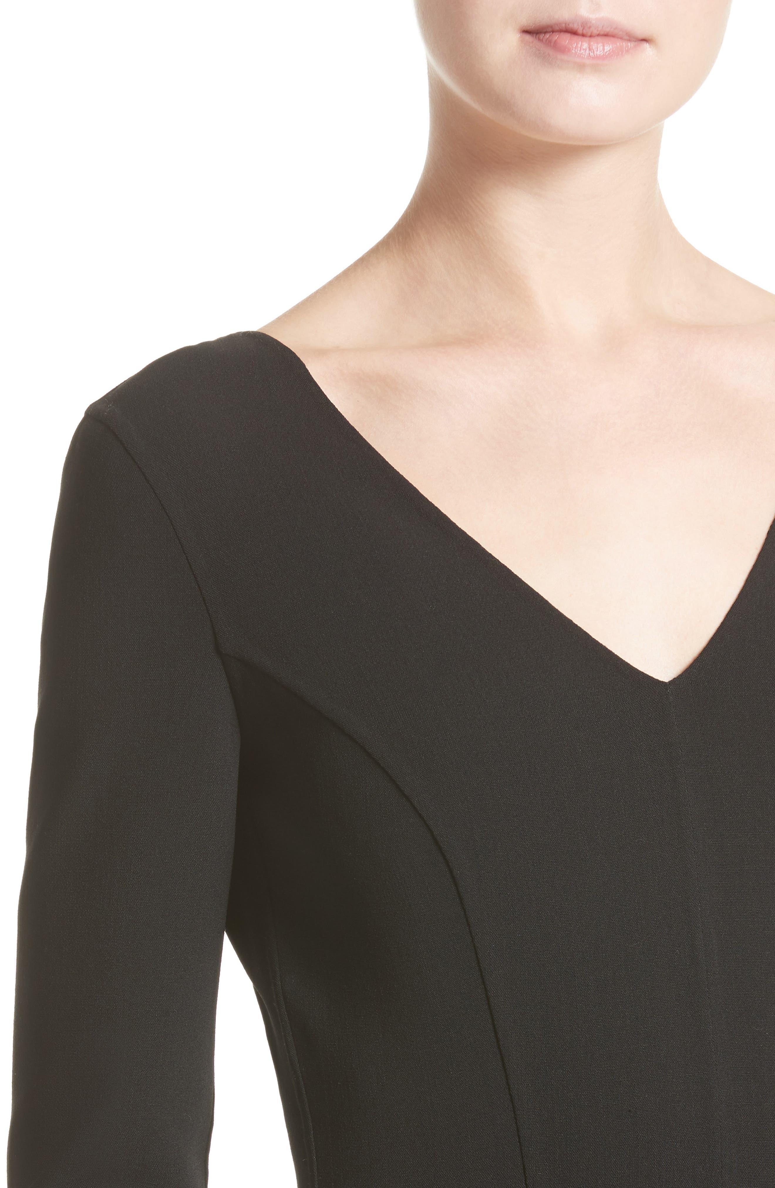 Alternate Image 6  - Michael Kors Stretch Wool Crepe Flounce Dress
