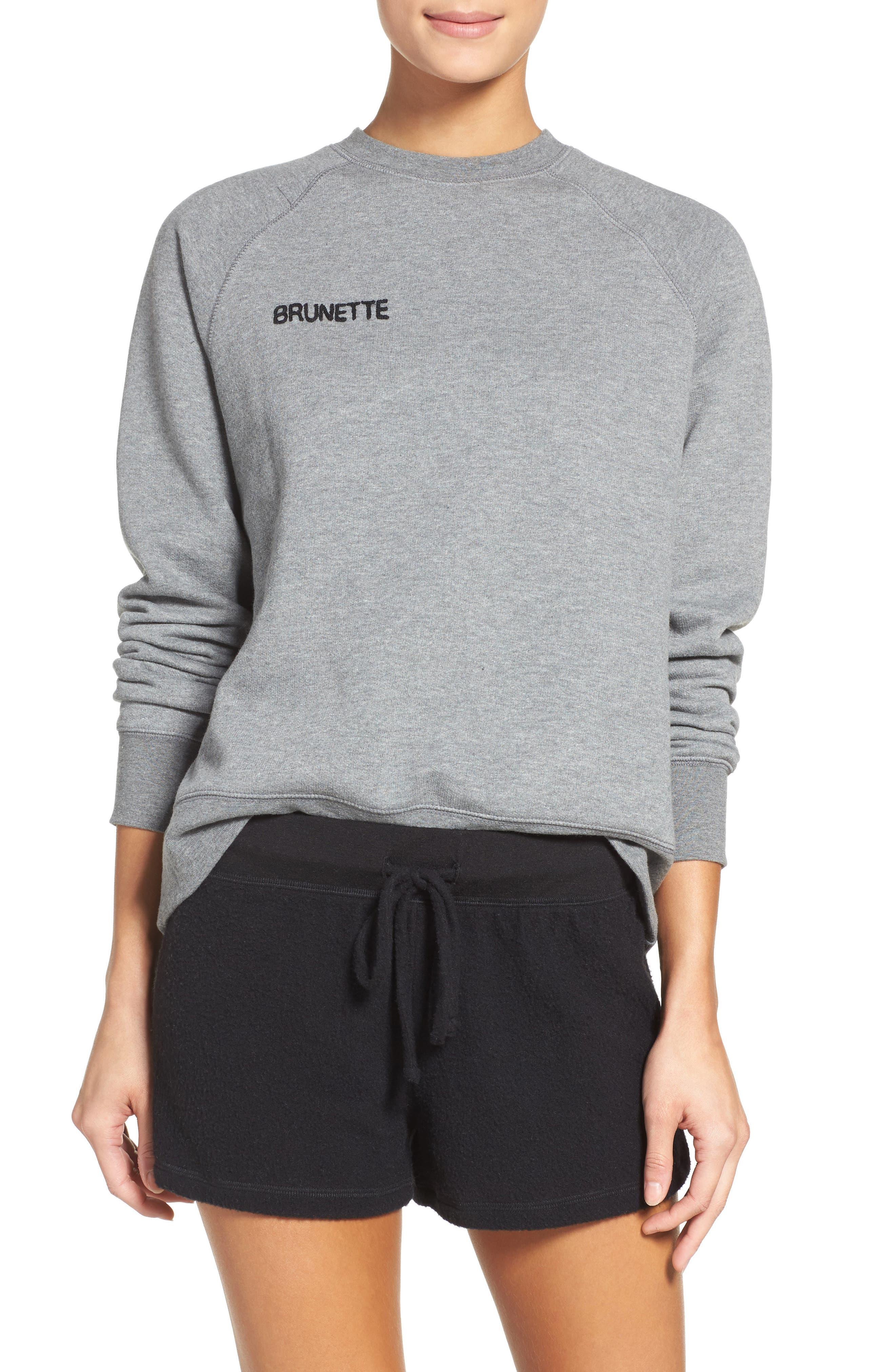 Crewneck Sweatshirt,                         Main,                         color, Heather Grey