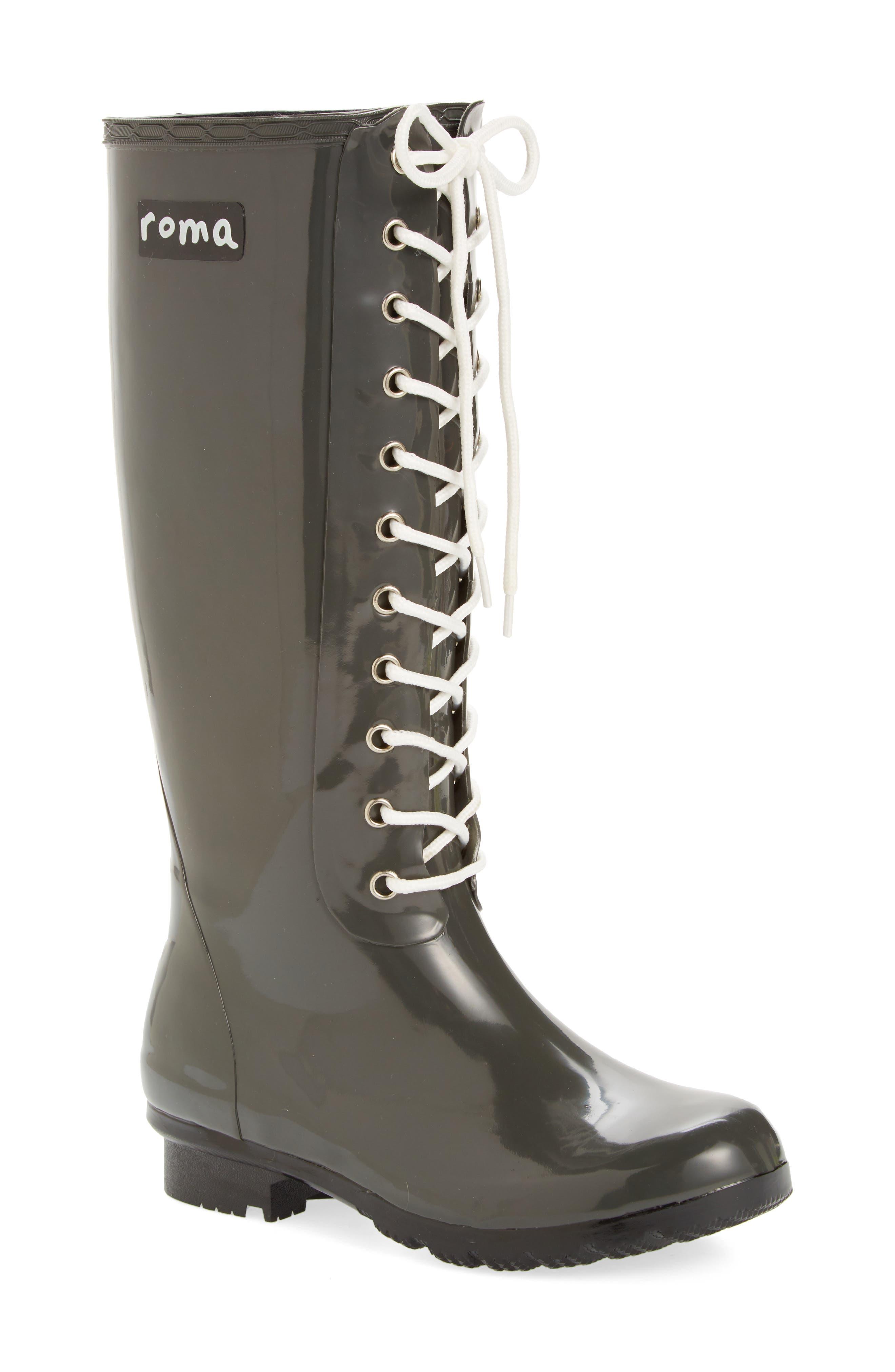 'Opinca' Waterproof Rain Boot,                         Main,                         color, Kale