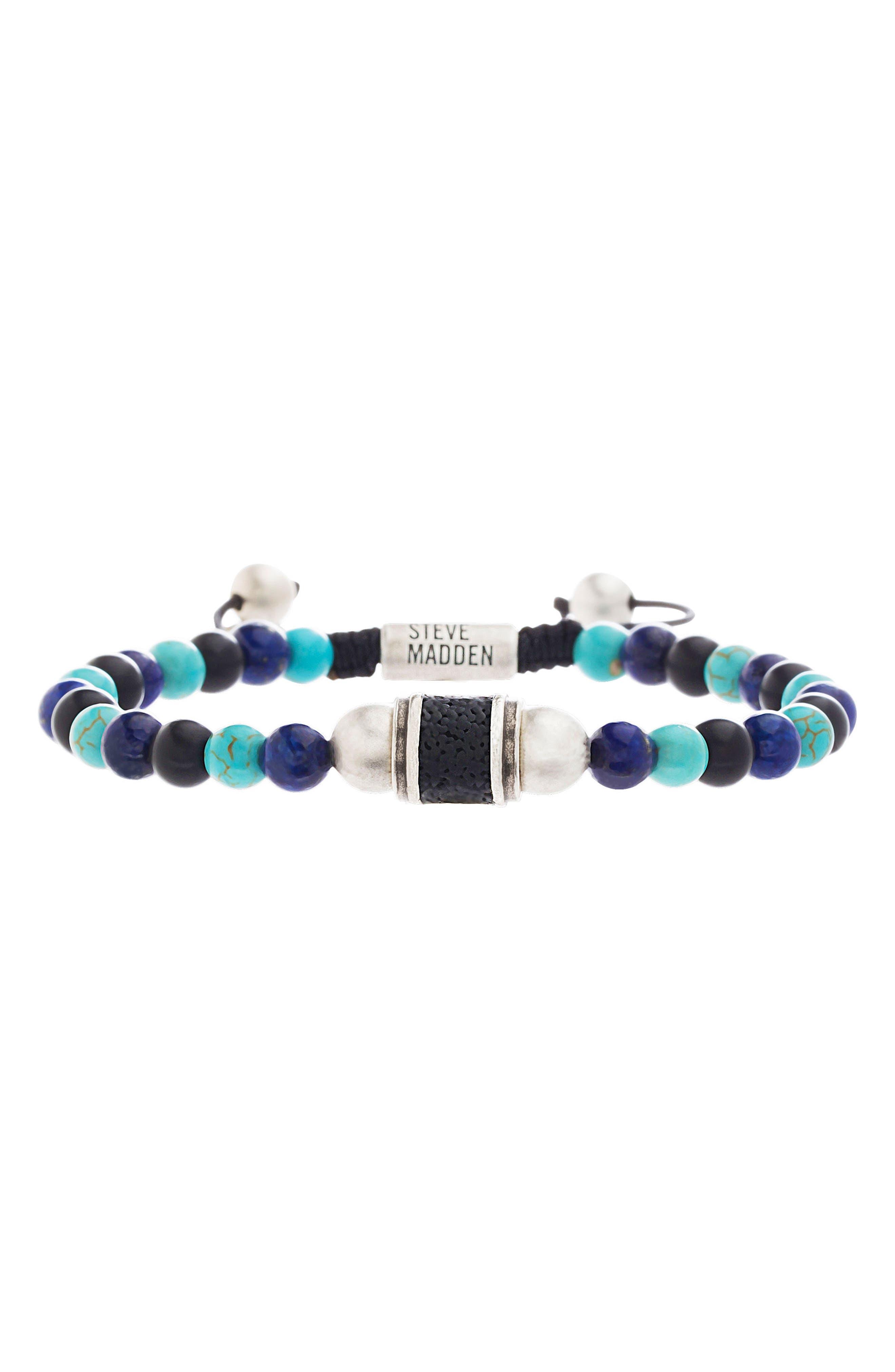 STEVE MADDEN Turquoise Bead Bracelet
