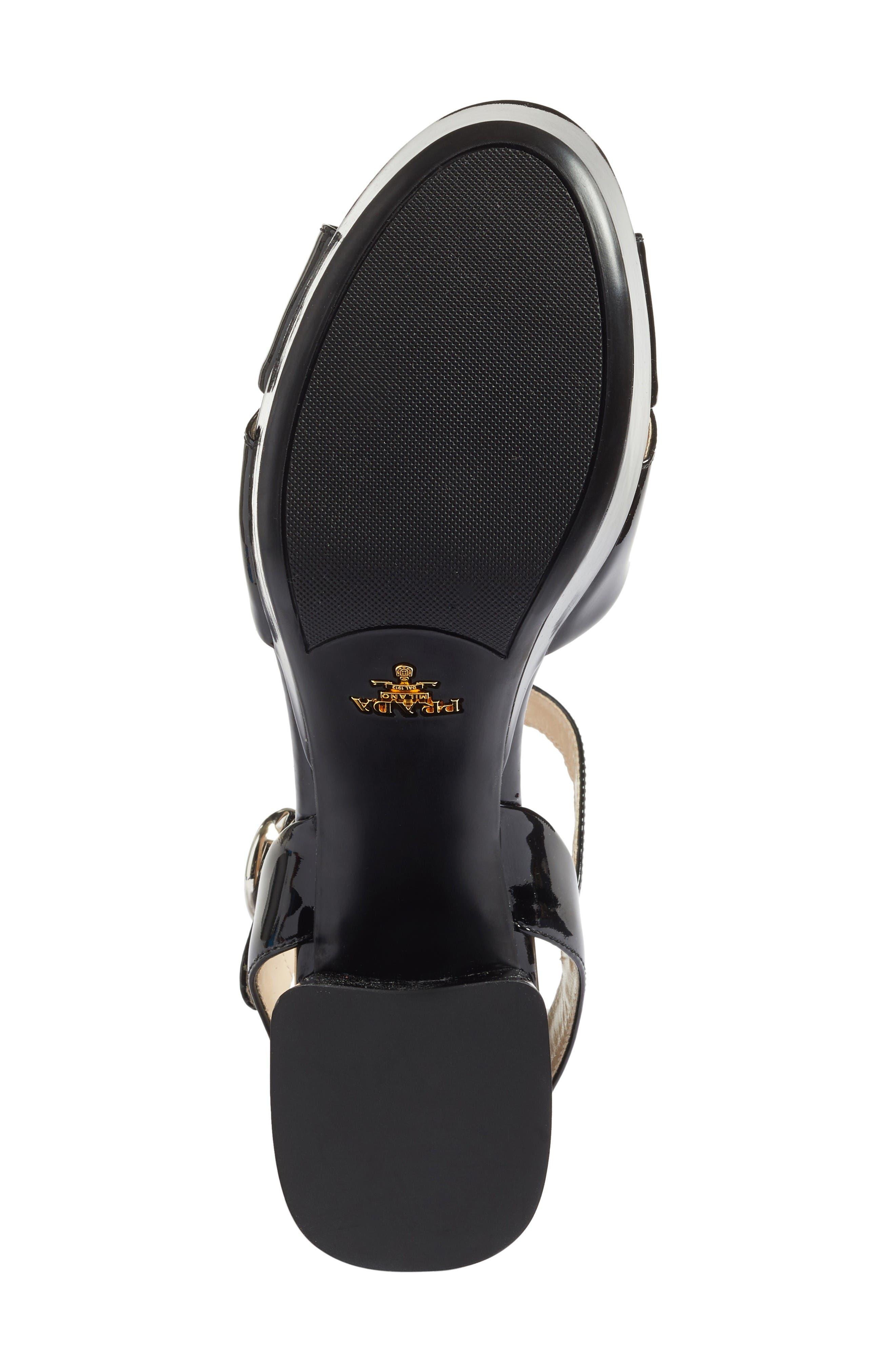 Strappy Platform Sandal,                             Alternate thumbnail 6, color,                             Black Patent