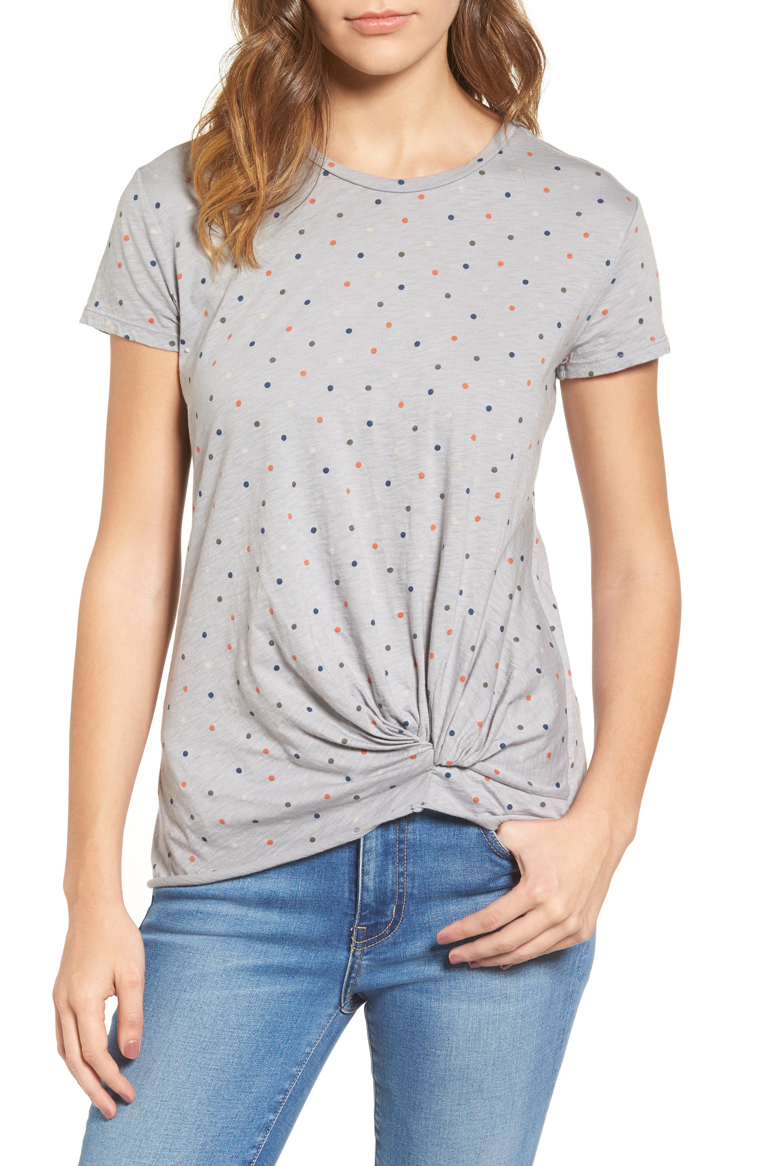 Stateside Polka Dot Twist Tee