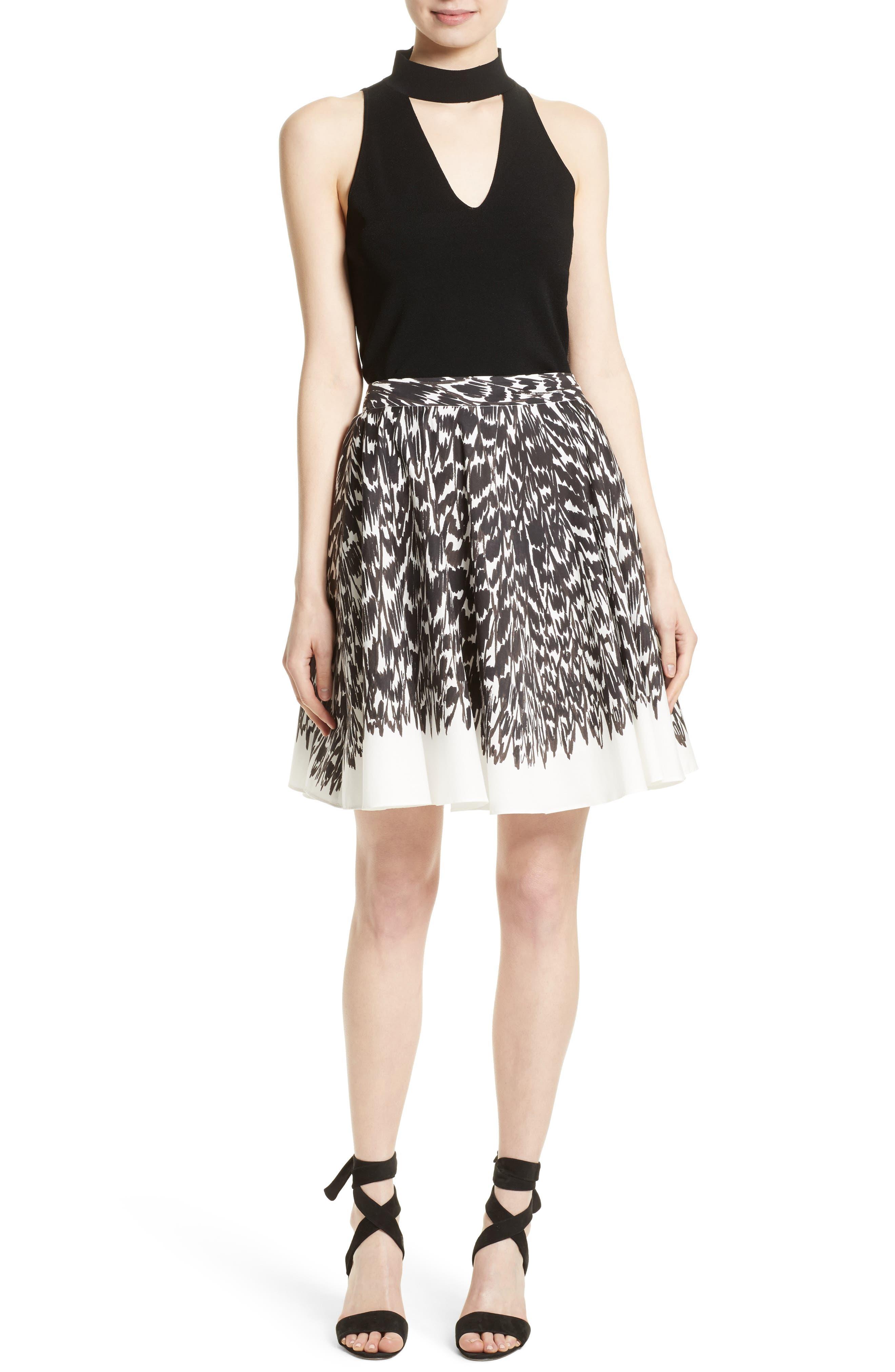 Circle Skirt,                             Alternate thumbnail 2, color,                             Black