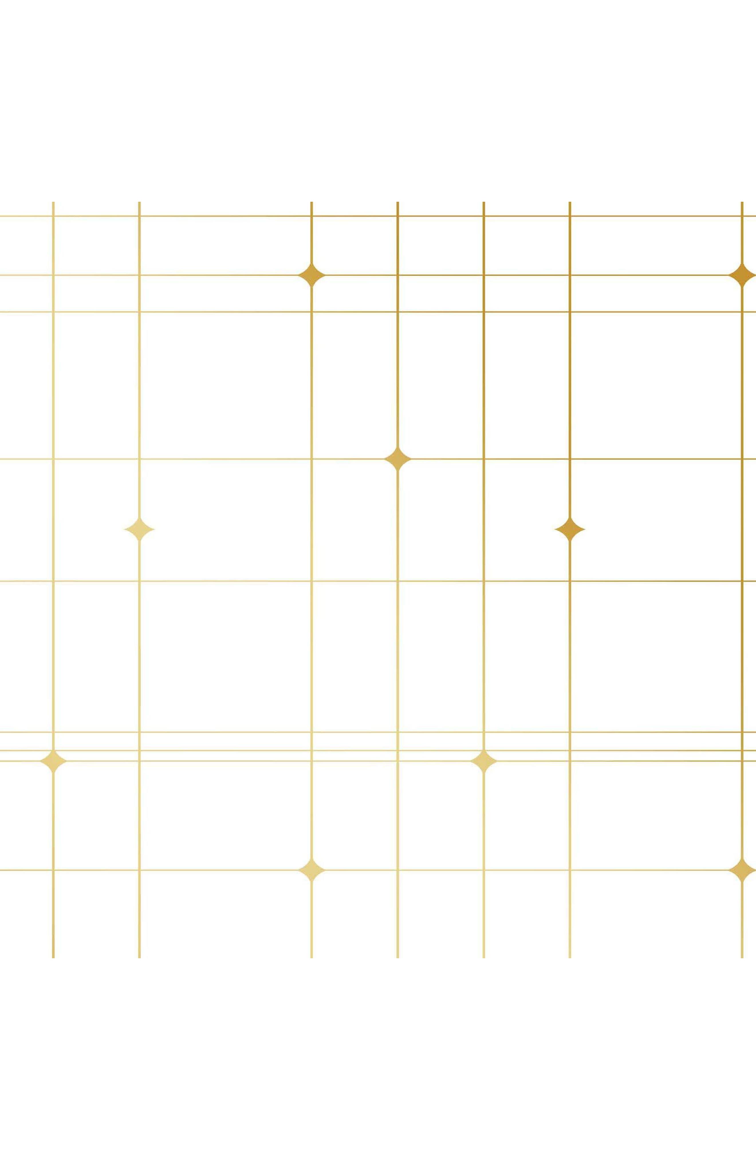 Thermoscad Self-Adhesive Vinyl Wallpaper,                             Main thumbnail 1, color,                             Metallic Gold/ White