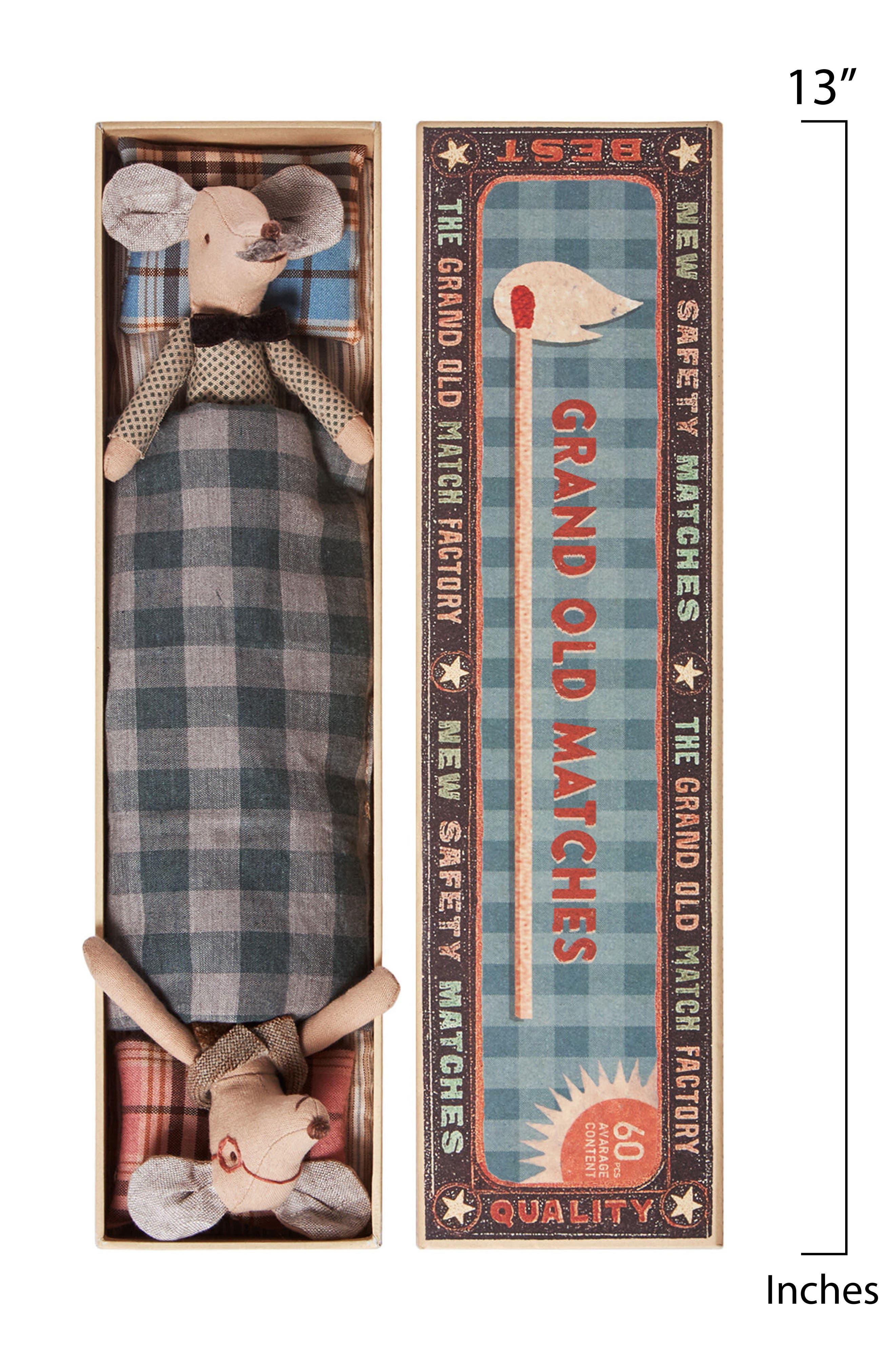 Alternate Image 2  - Maileg Grandma & Grandpa Stuffed Toy Mice in a Box