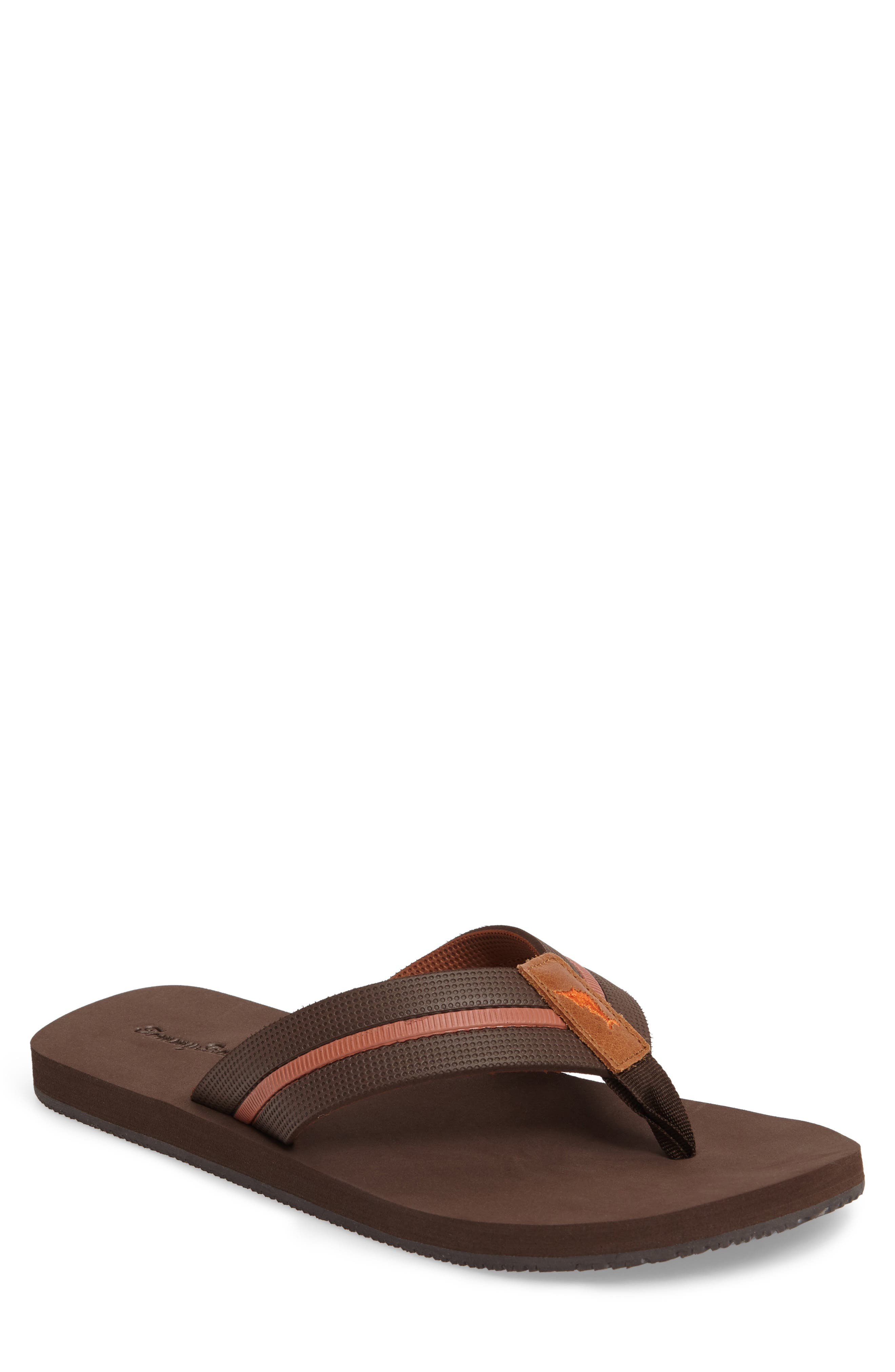 Taheeti Flip Flop,                         Main,                         color, Dark Brown