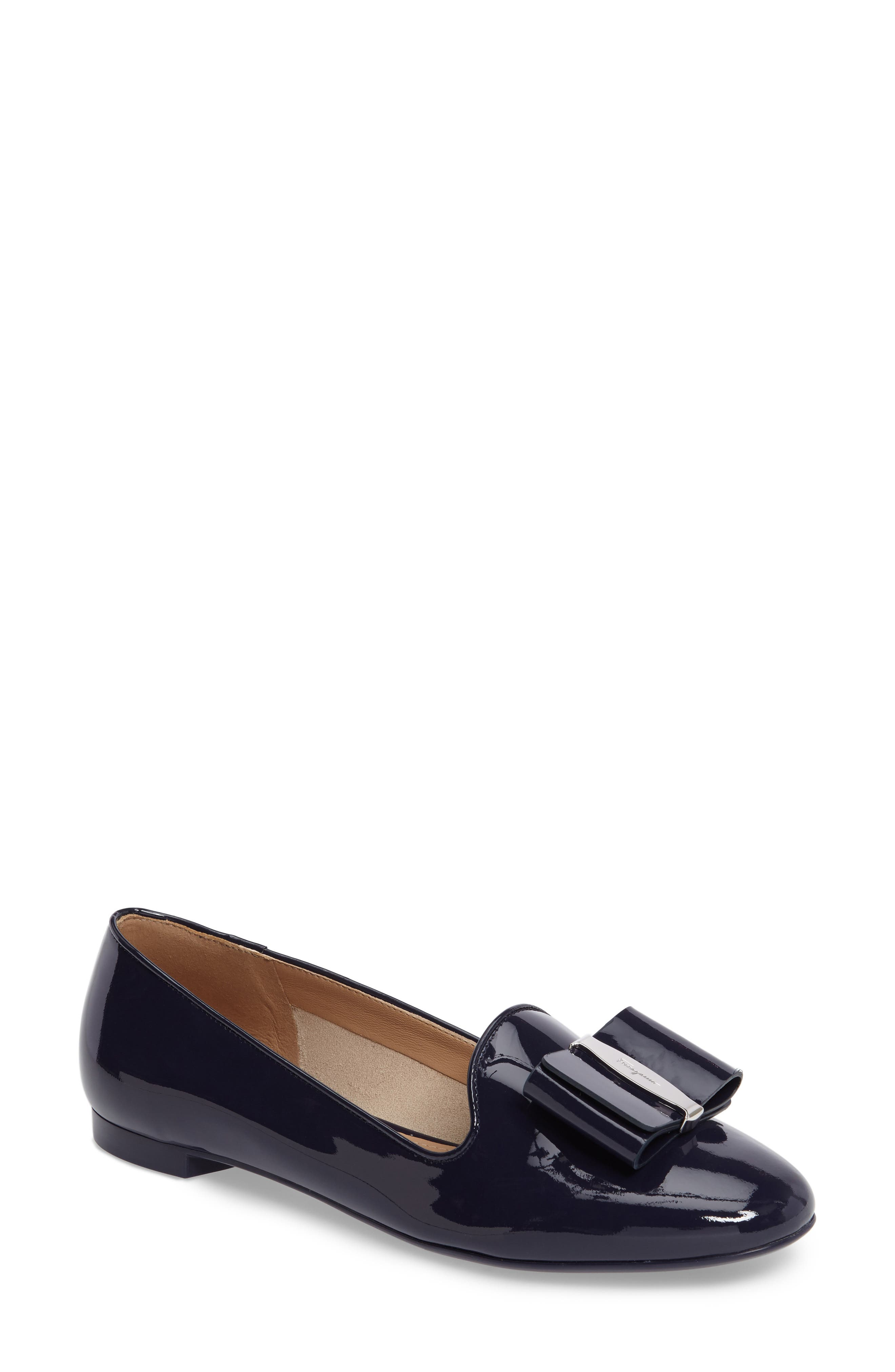 Salvatore Ferragamo Bow Smoking Loafer (Women)