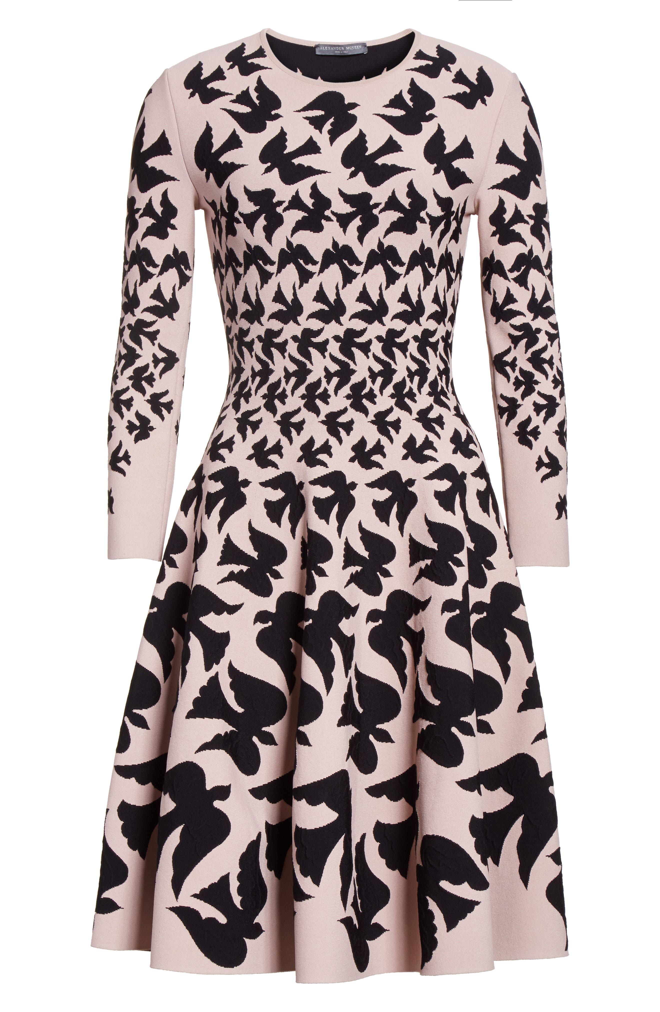 Alternate Image 3  - Alexander McQueen Swallow Jacquard Dress