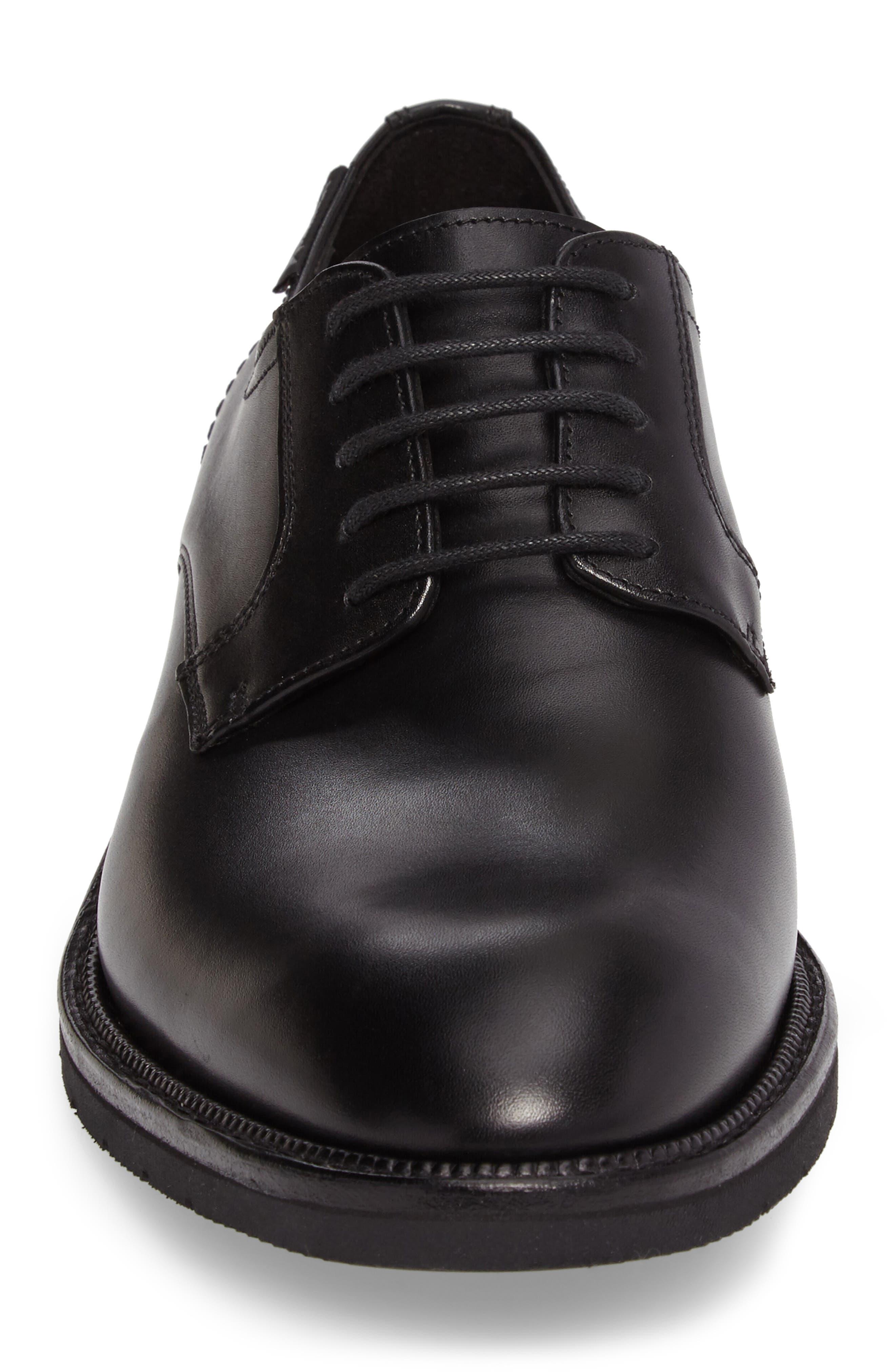 Taylor Plain Toe Derby,                             Alternate thumbnail 4, color,                             Black