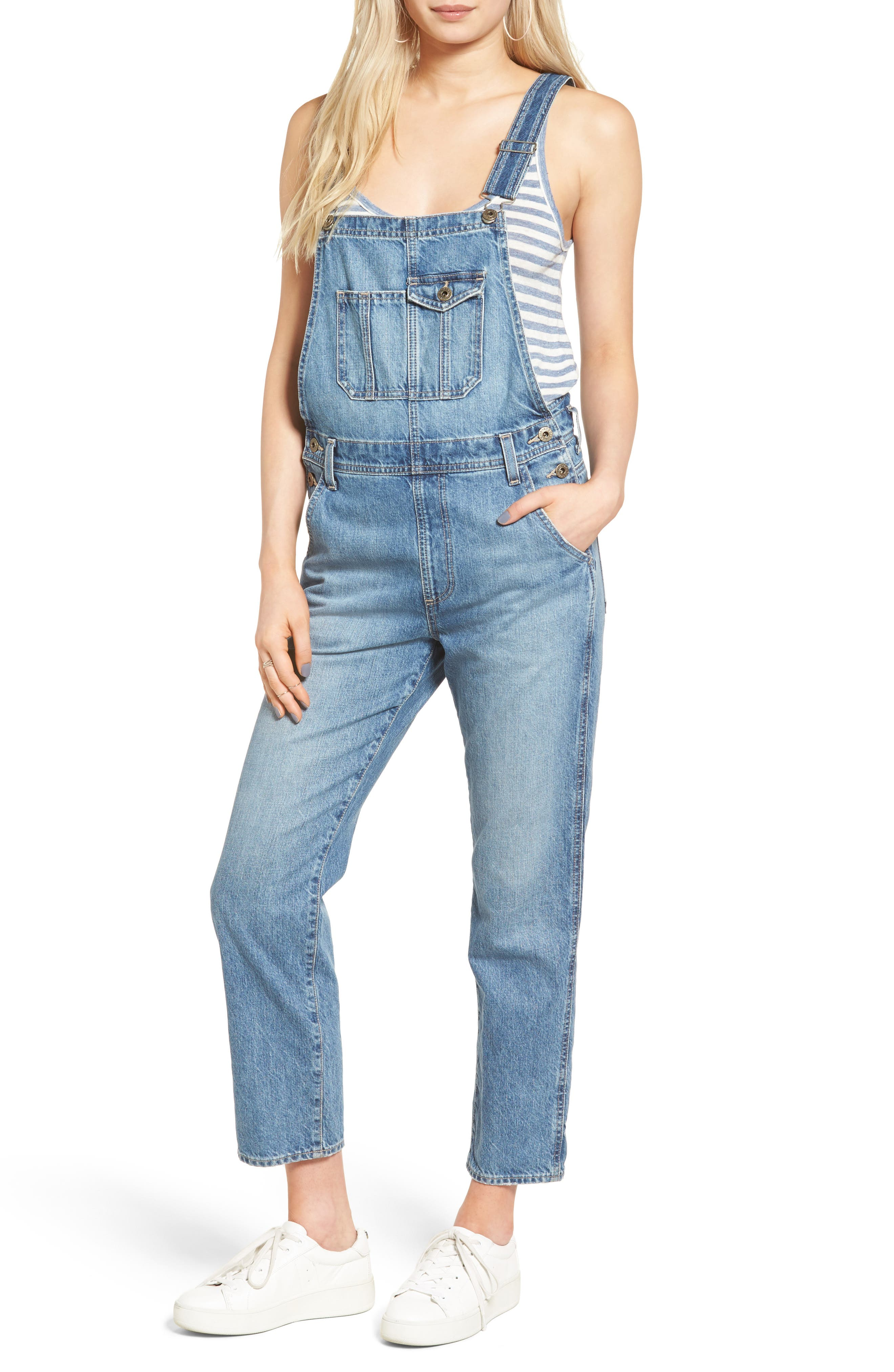 Alternate Image 1 Selected - AG Leah Linen Overalls