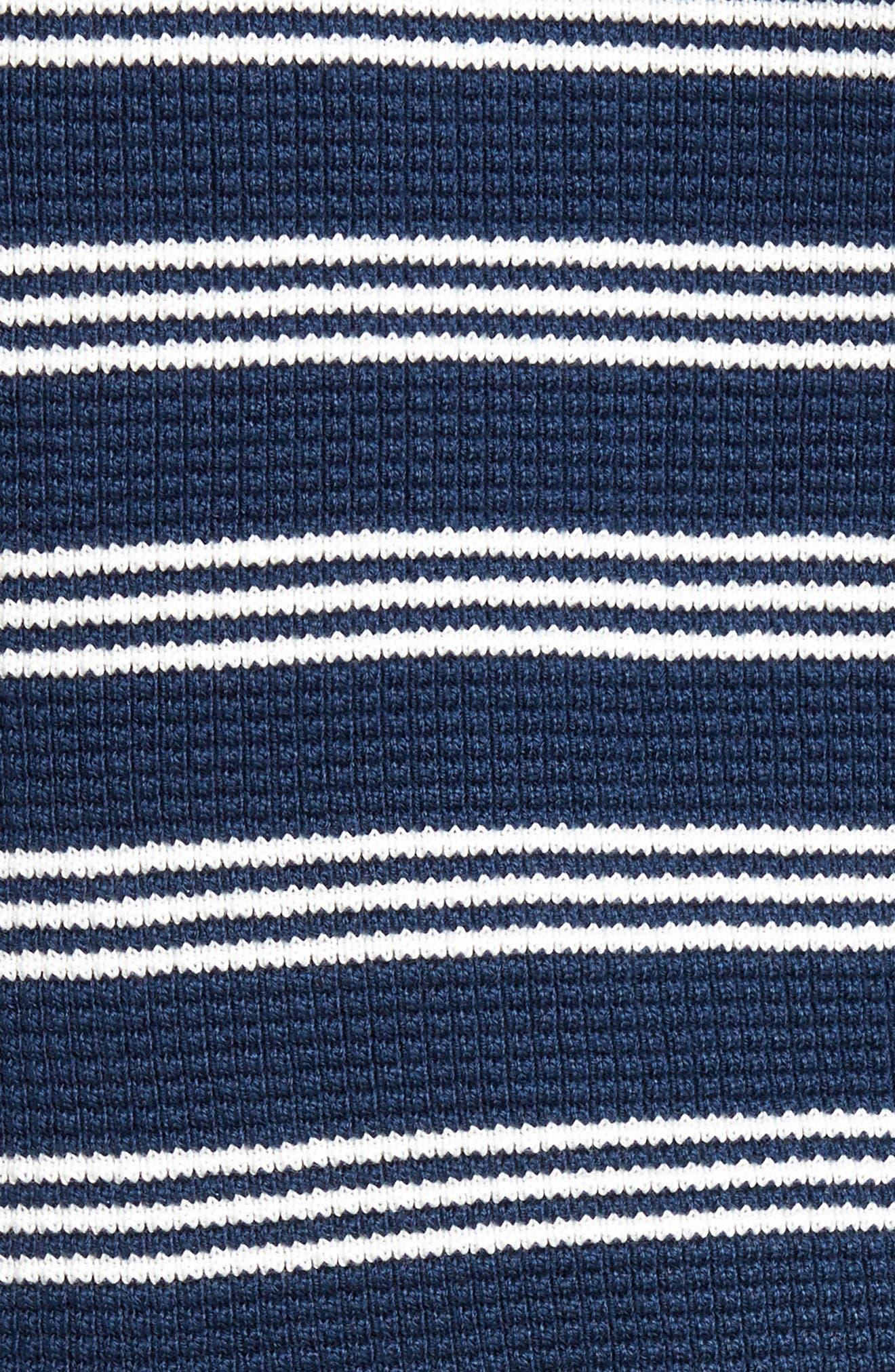 Alternate Image 5  - Lacoste Waffle Stitch Stripe Sweater