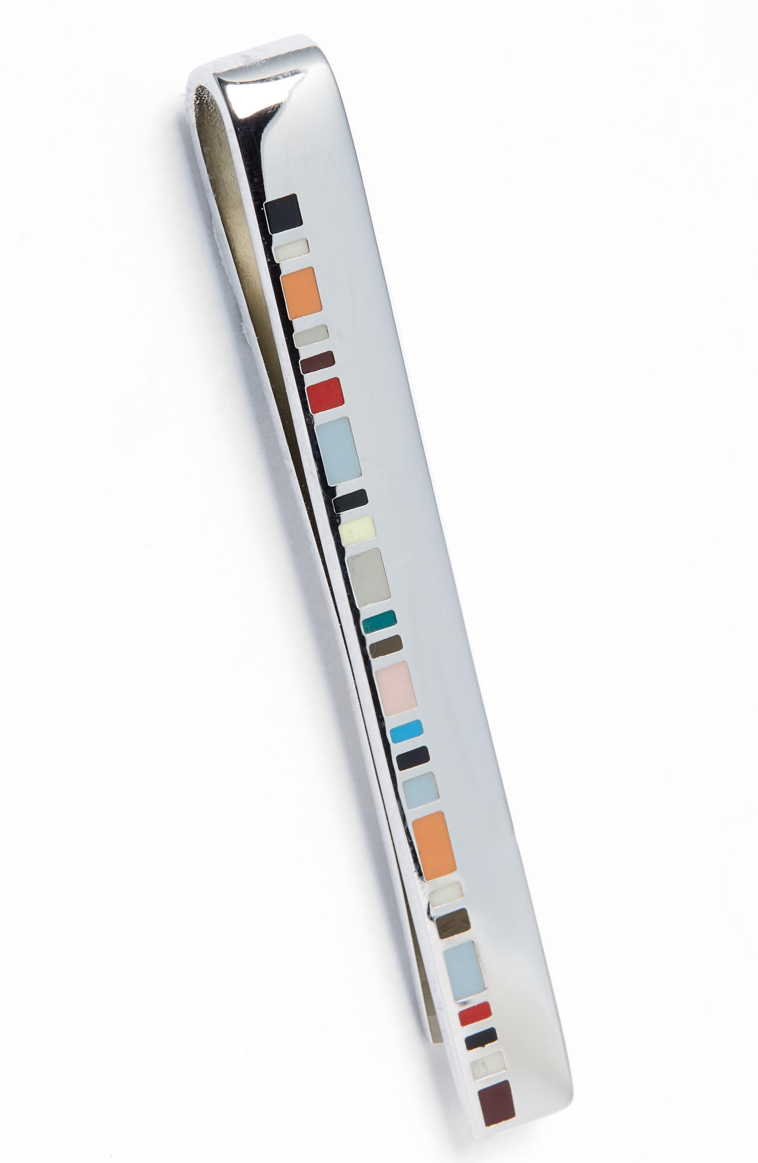 Fine Stripe Tie Bar,                             Main thumbnail 1, color,                             Metallic Silver