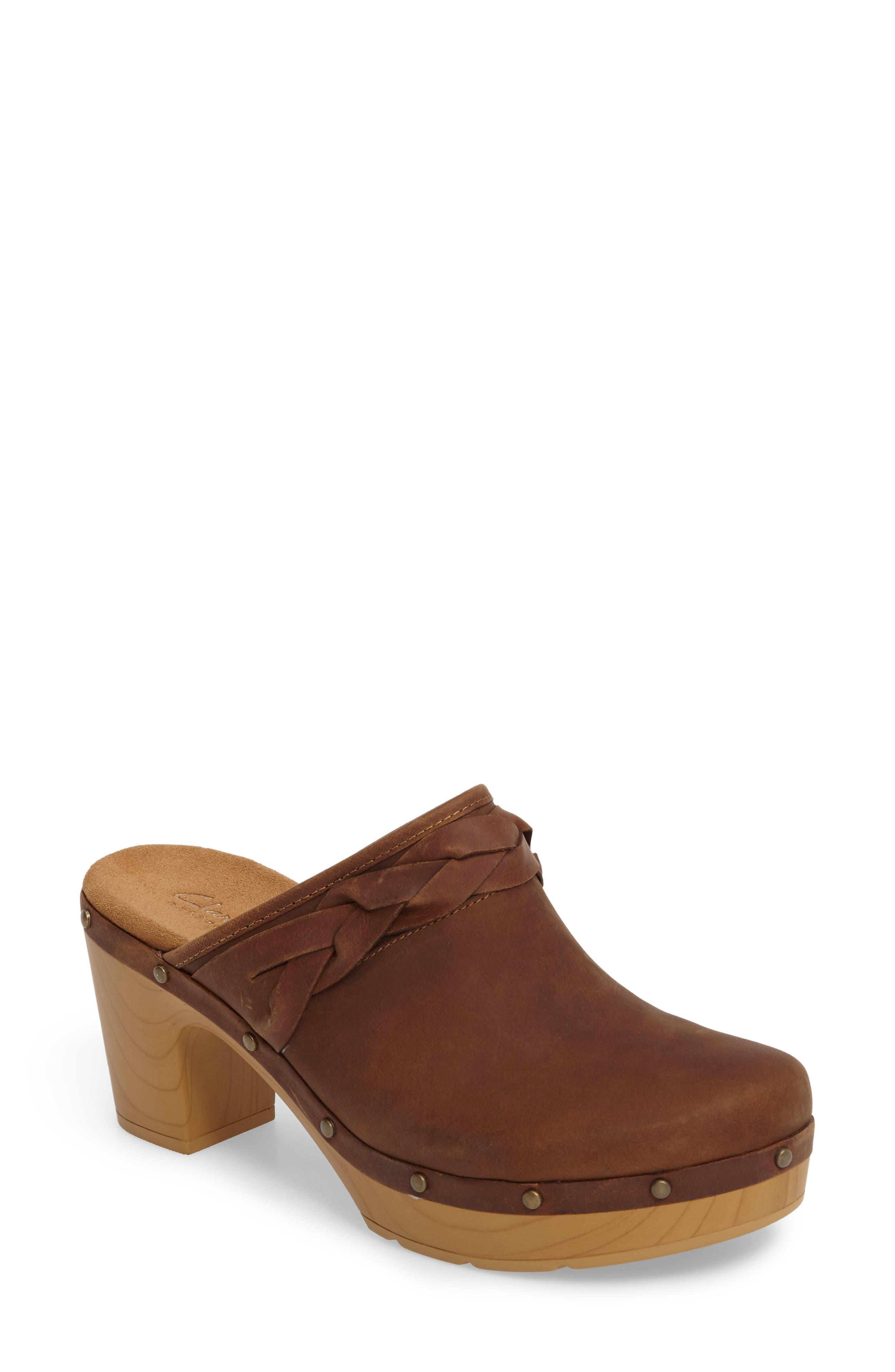Alternate Image 1 Selected - Clarks® Ledella Meg Platform Clog (Women)