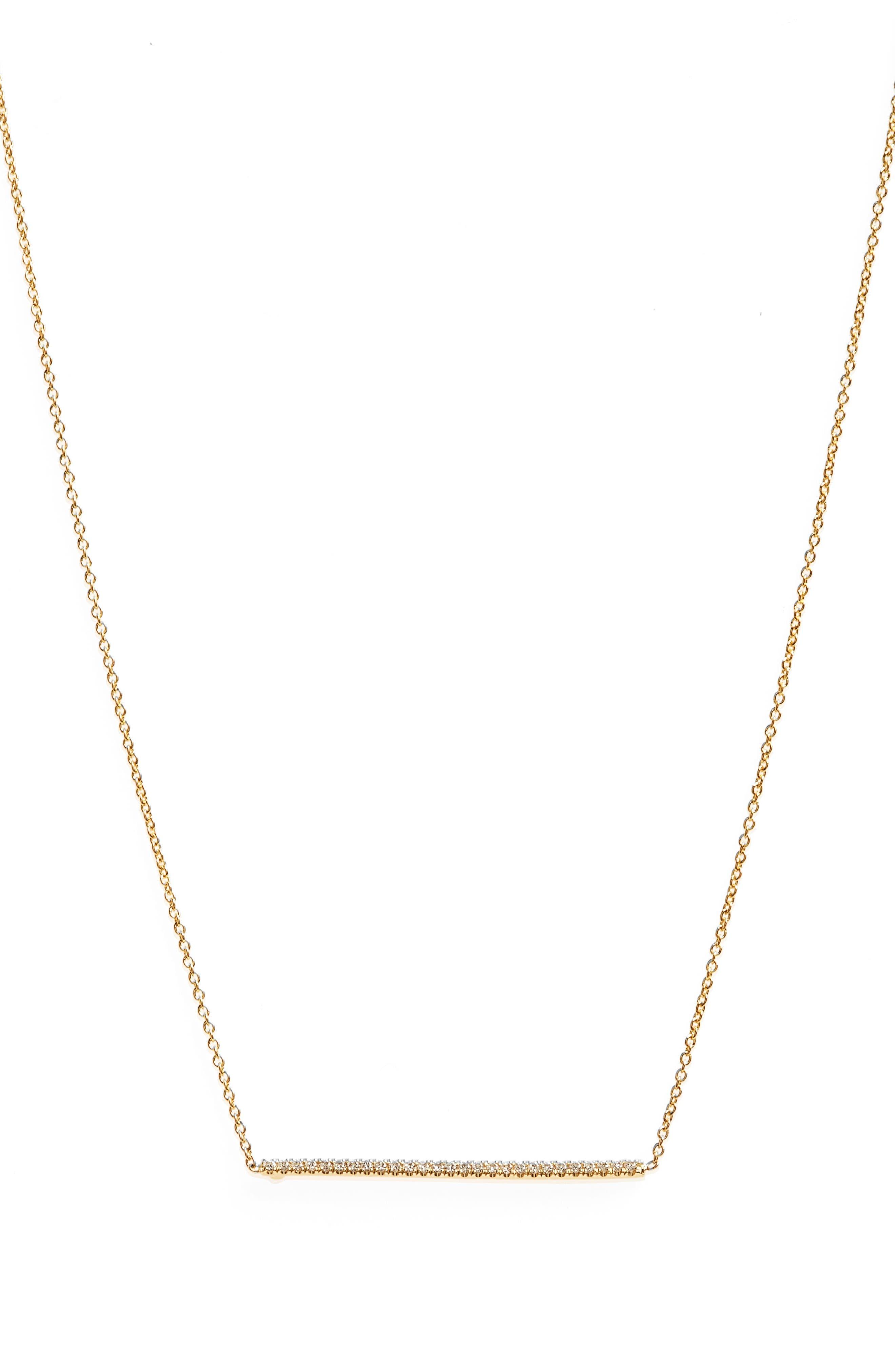 ROBERTO COIN Tiny Treasures Diamond Bar Necklace