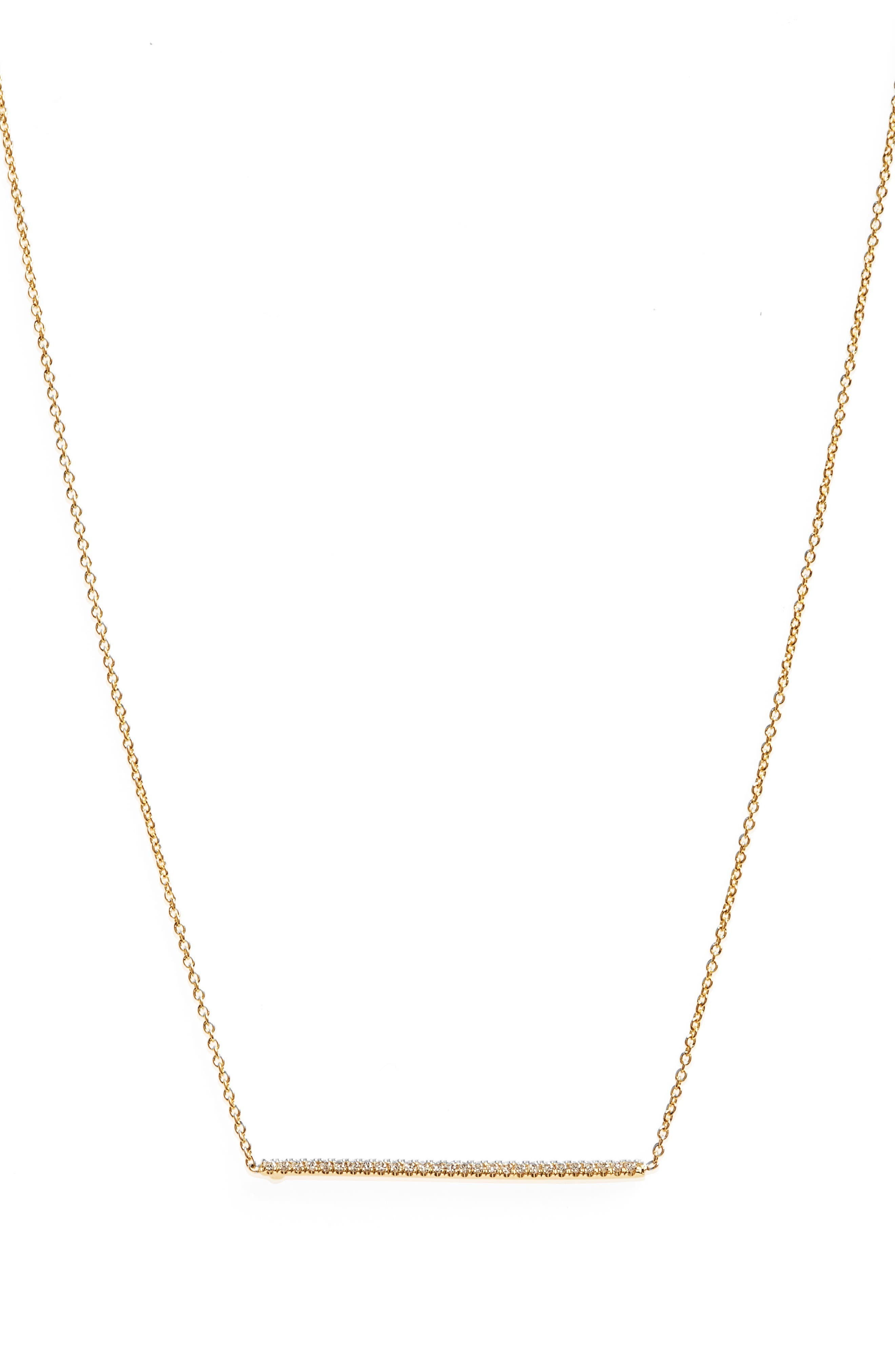 Roberto Coin Tiny Treasures Diamond Bar Necklace