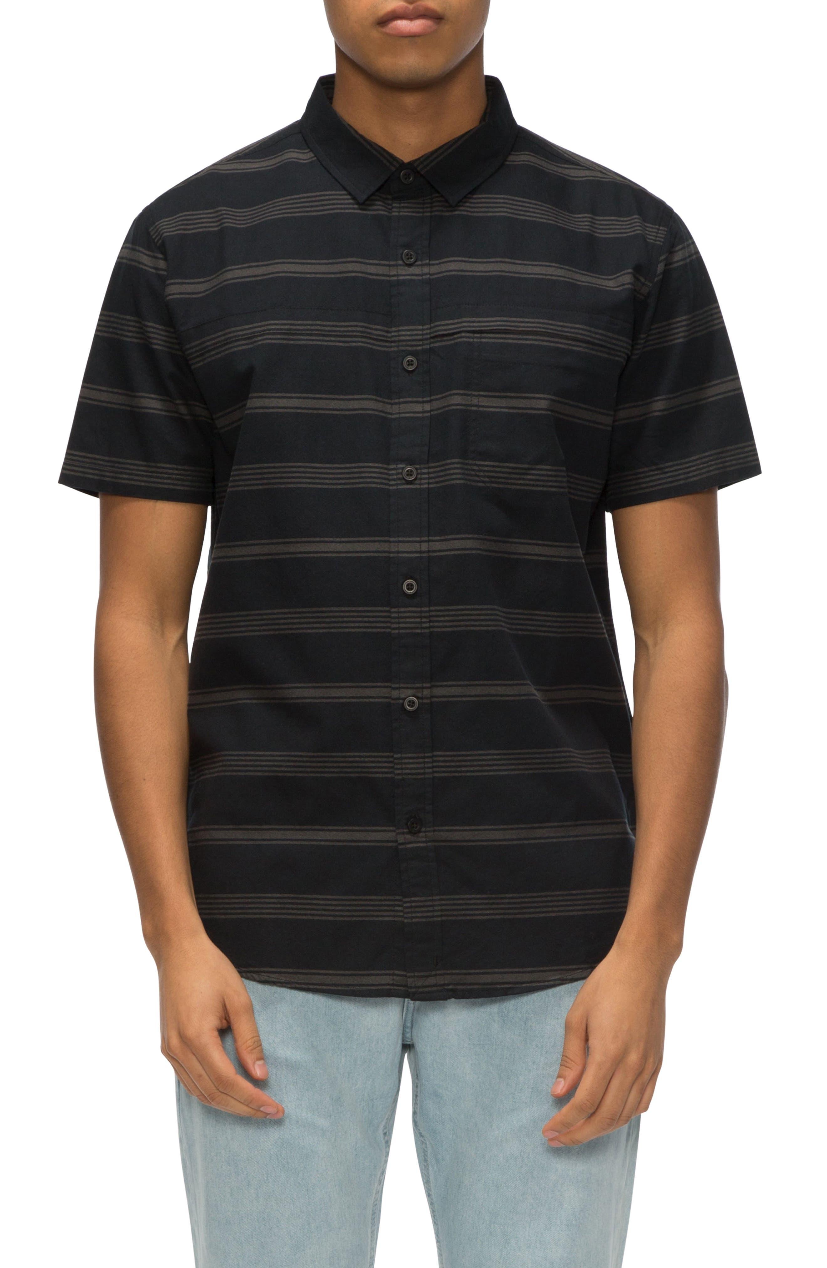 Shin Stripe Shirt,                         Main,                         color, Black/ Raven Stripe