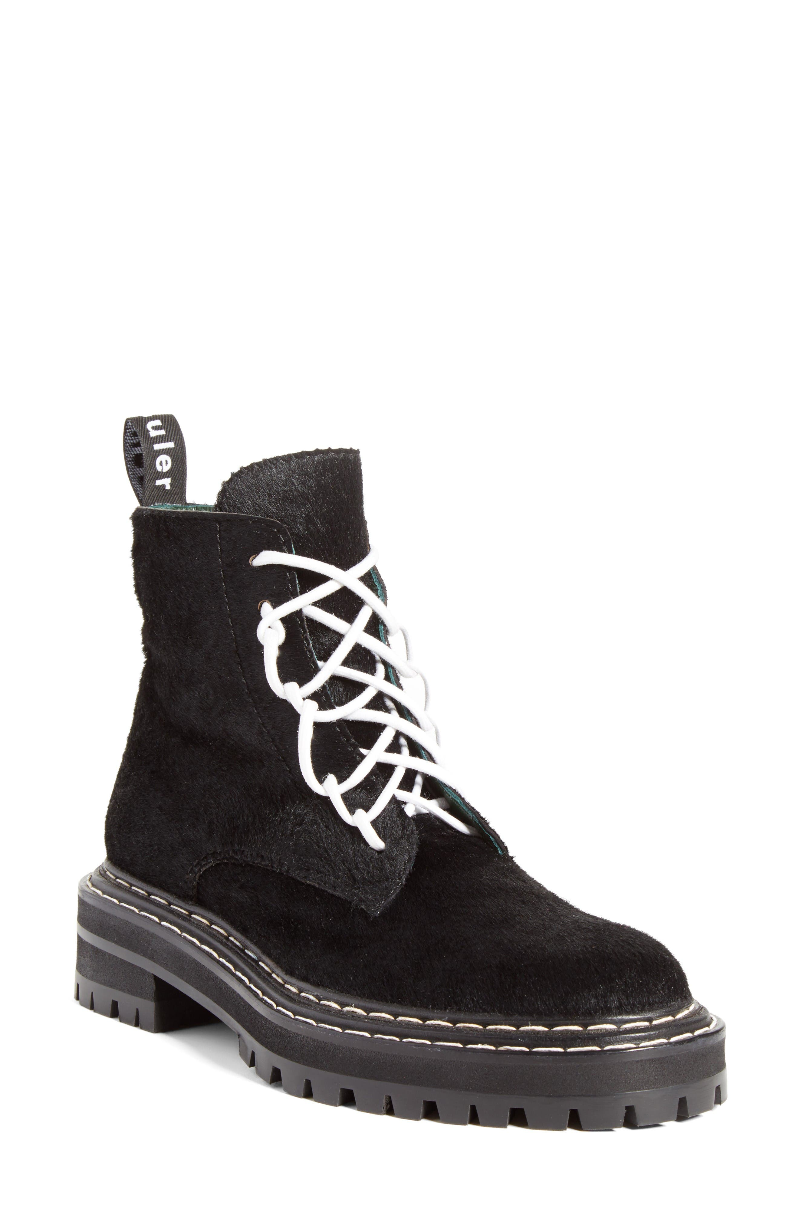 Combat Boot,                         Main,                         color, Black