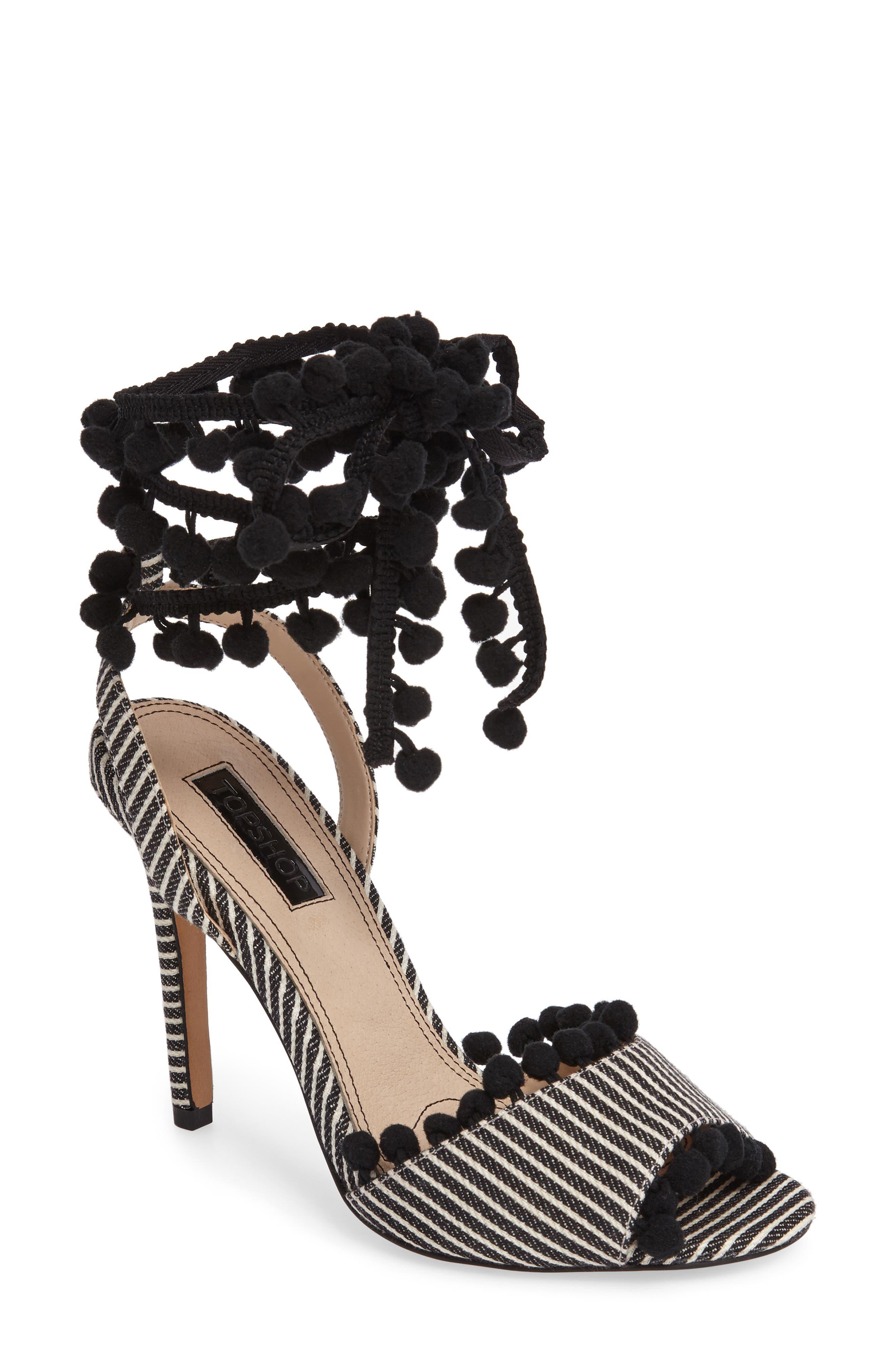 Topshop Rom Pom Pom Sandals (Women)