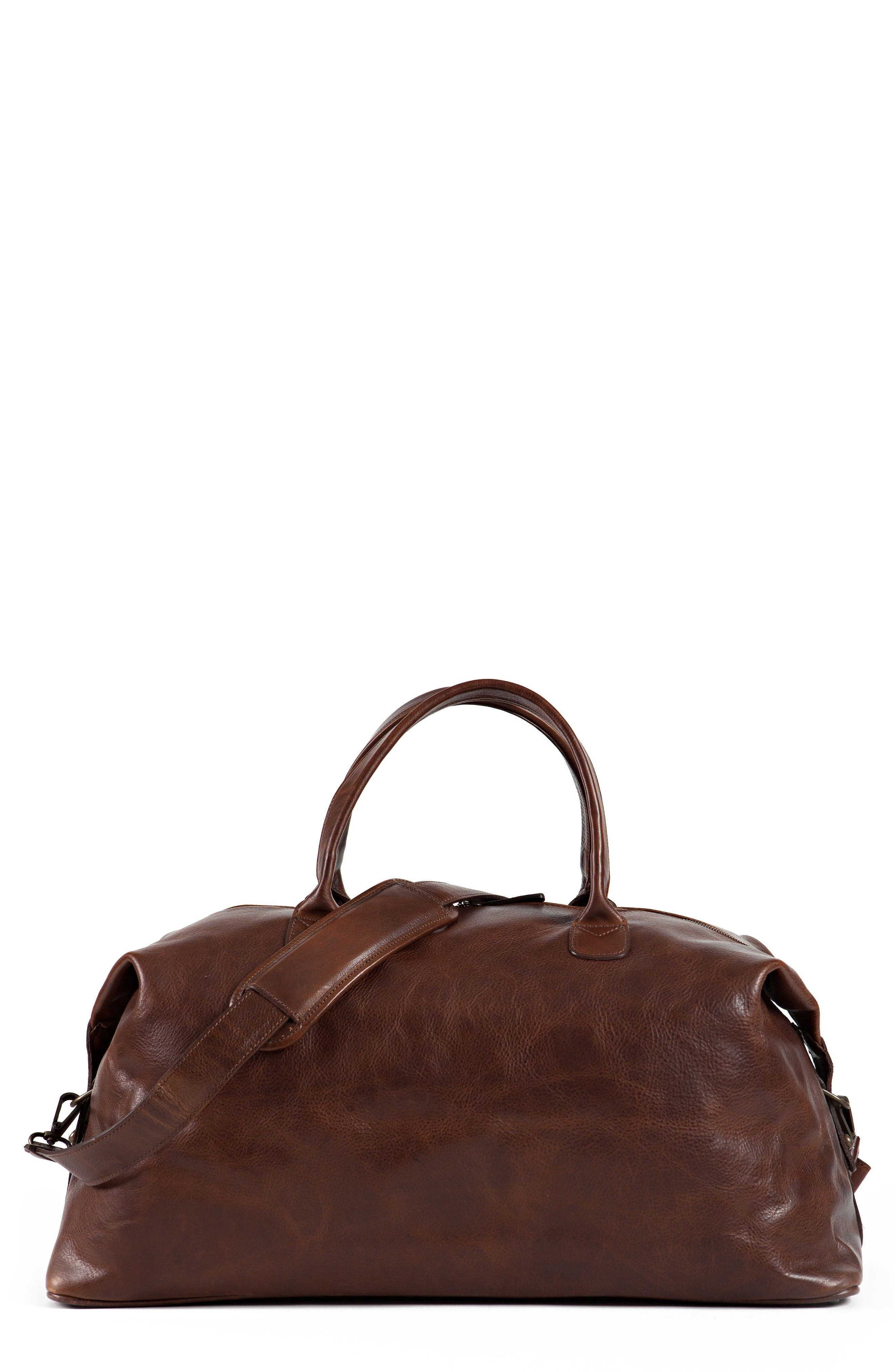 Main Image - Moore & Giles Benedict Leather Duffel Bag