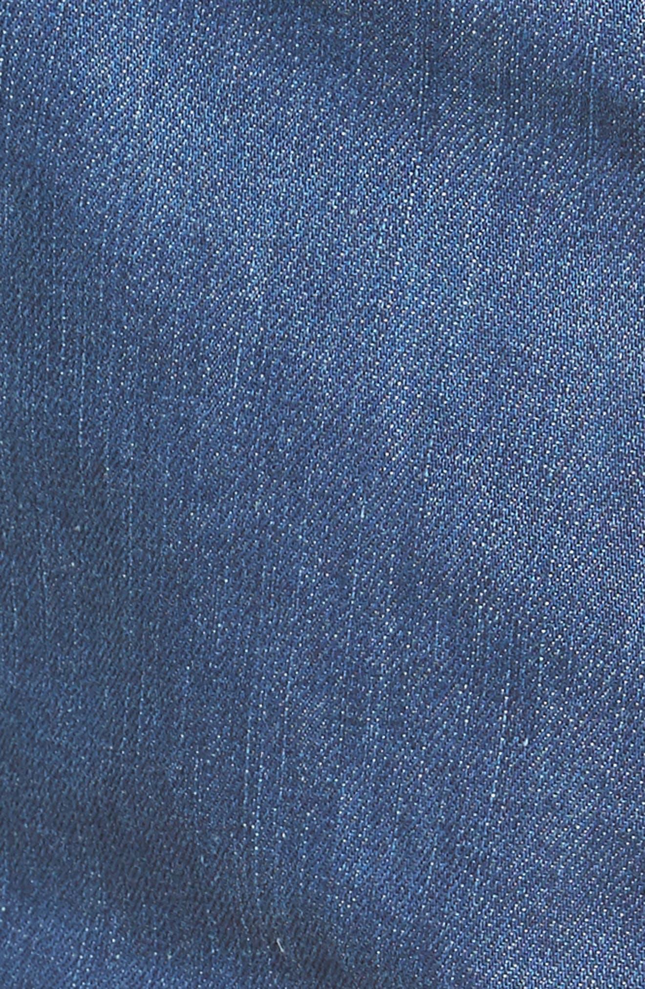 Alternate Image 5  - BLANKNYC Embroidered Denim Shorts (Wild Ones)