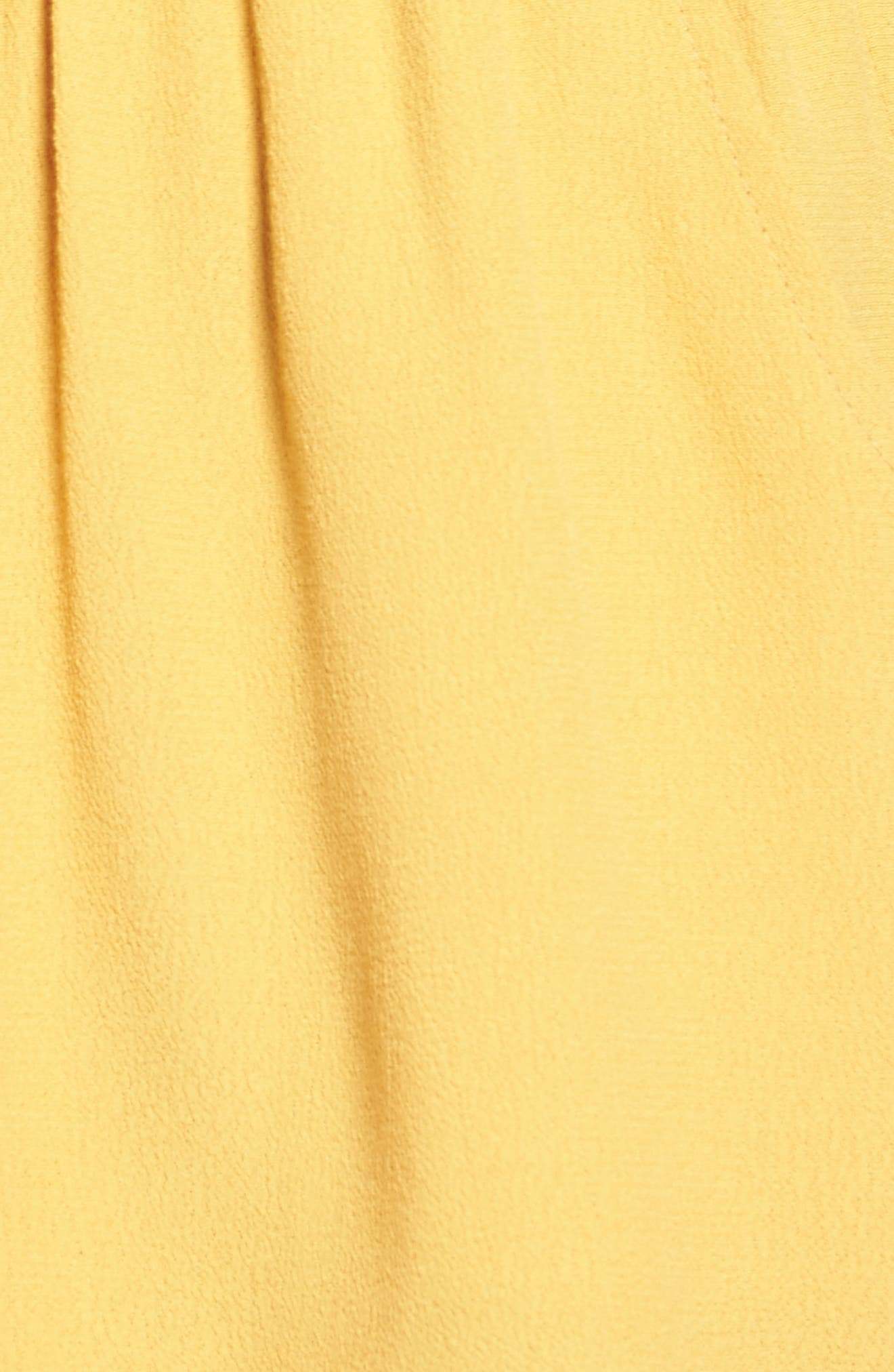 One-Shoulder Ruffle Romper,                             Alternate thumbnail 6, color,                             Yellow