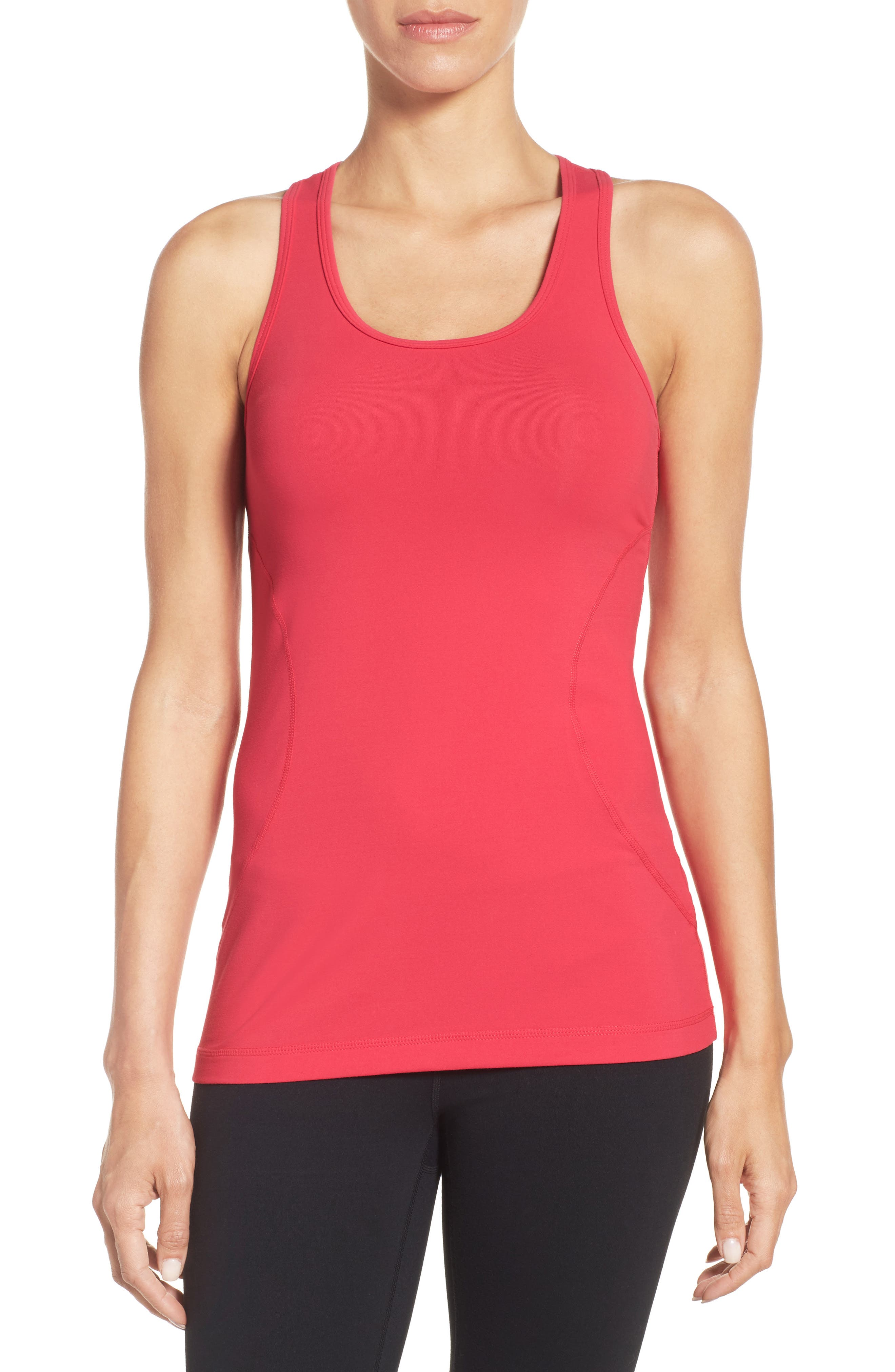'Racer' Tank,                         Main,                         color, Pink Bright