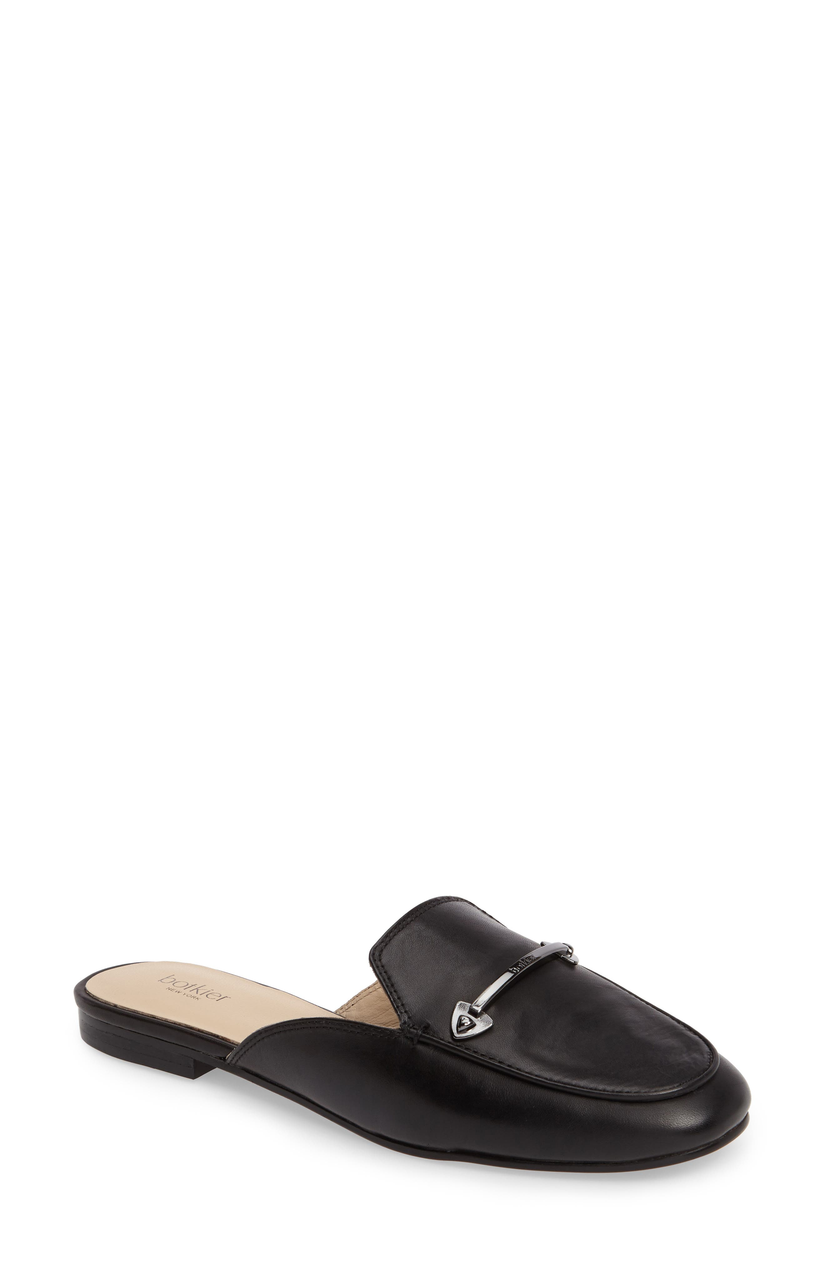 Clare Loafer Mule,                             Main thumbnail 1, color,                             Black