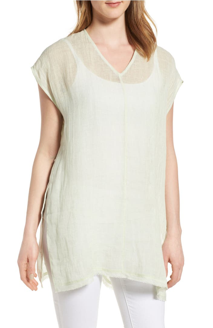 eileen fisher organic linen tunic top nordstrom. Black Bedroom Furniture Sets. Home Design Ideas