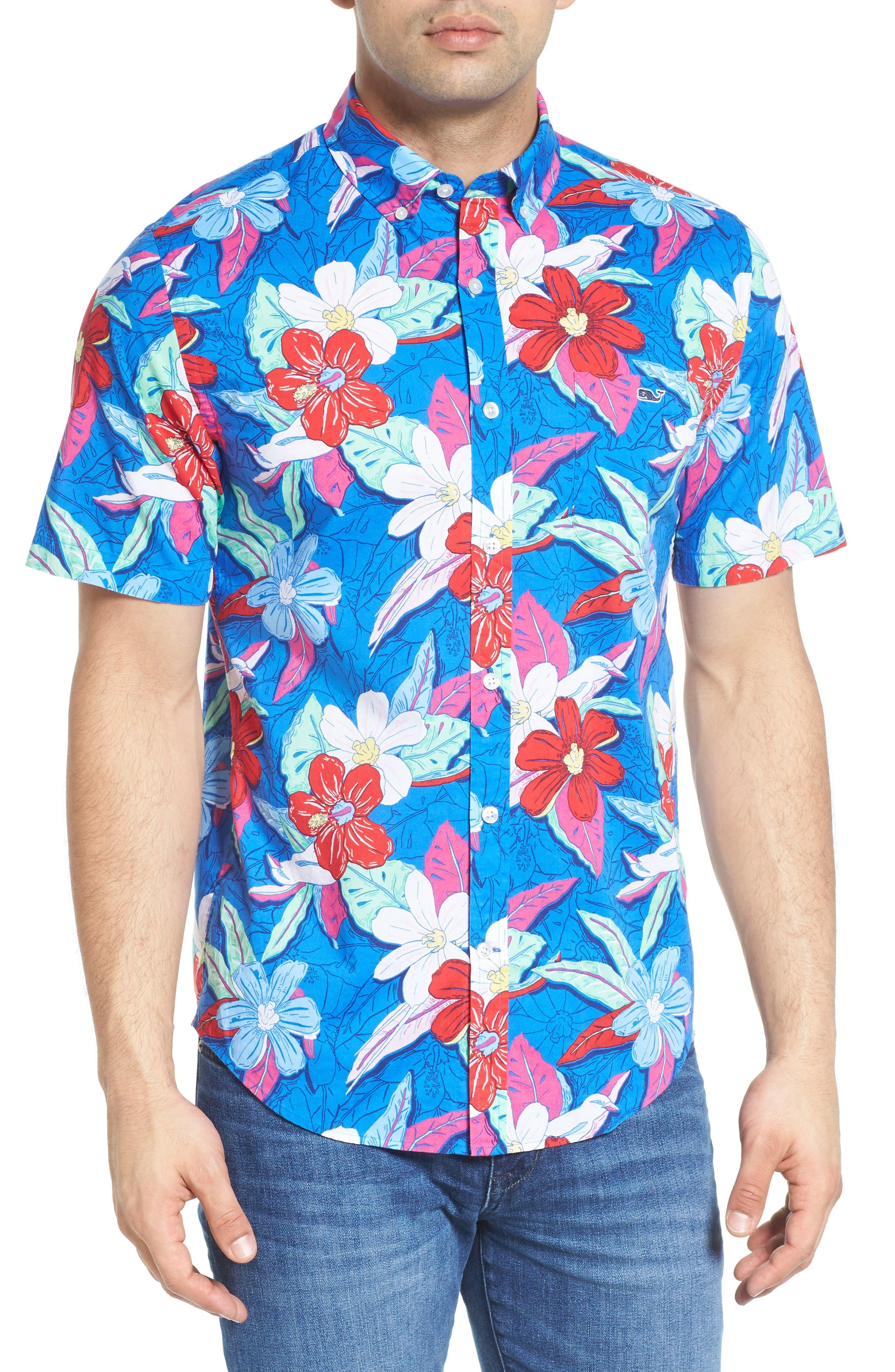 VINEYARD VINES Beach Floral Murray Classic Fit Sport Shirt