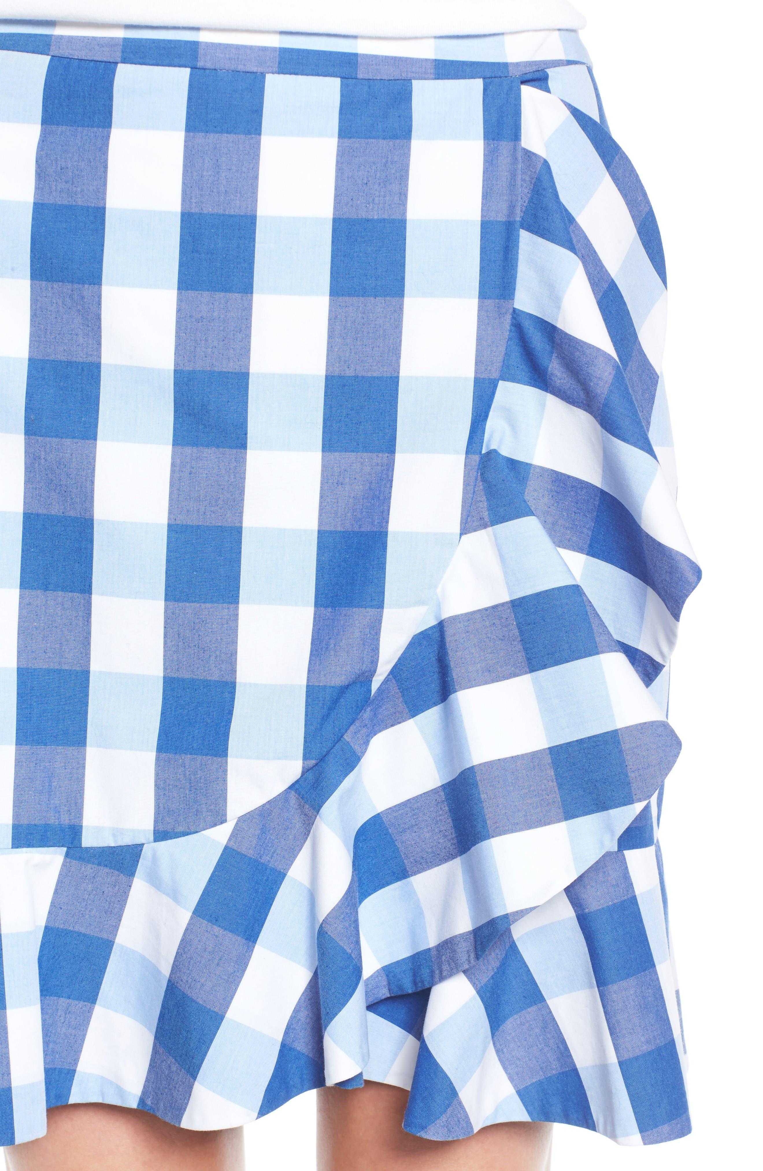 Alternate Image 4  - Draper James Check Miniskirt