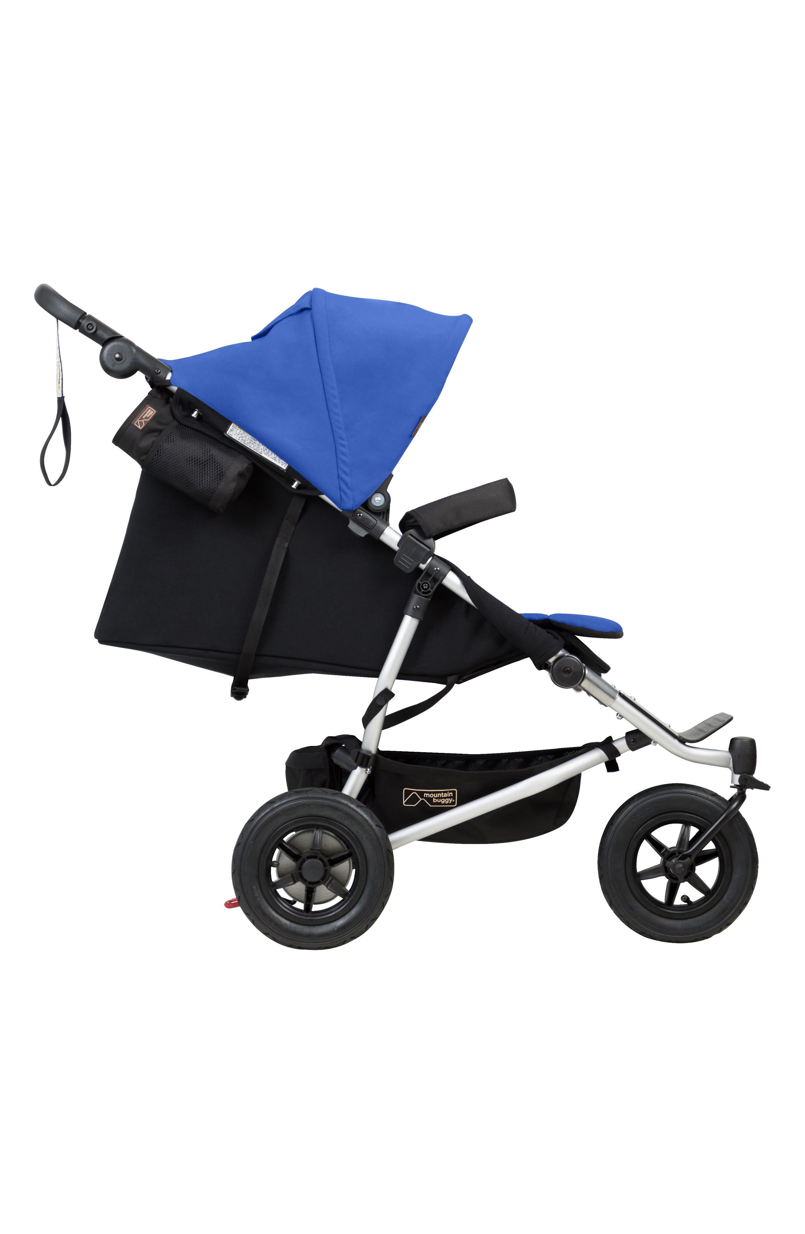2017 Duet Compact Side by Side Double Stroller,                             Alternate thumbnail 4, color,                             Marine