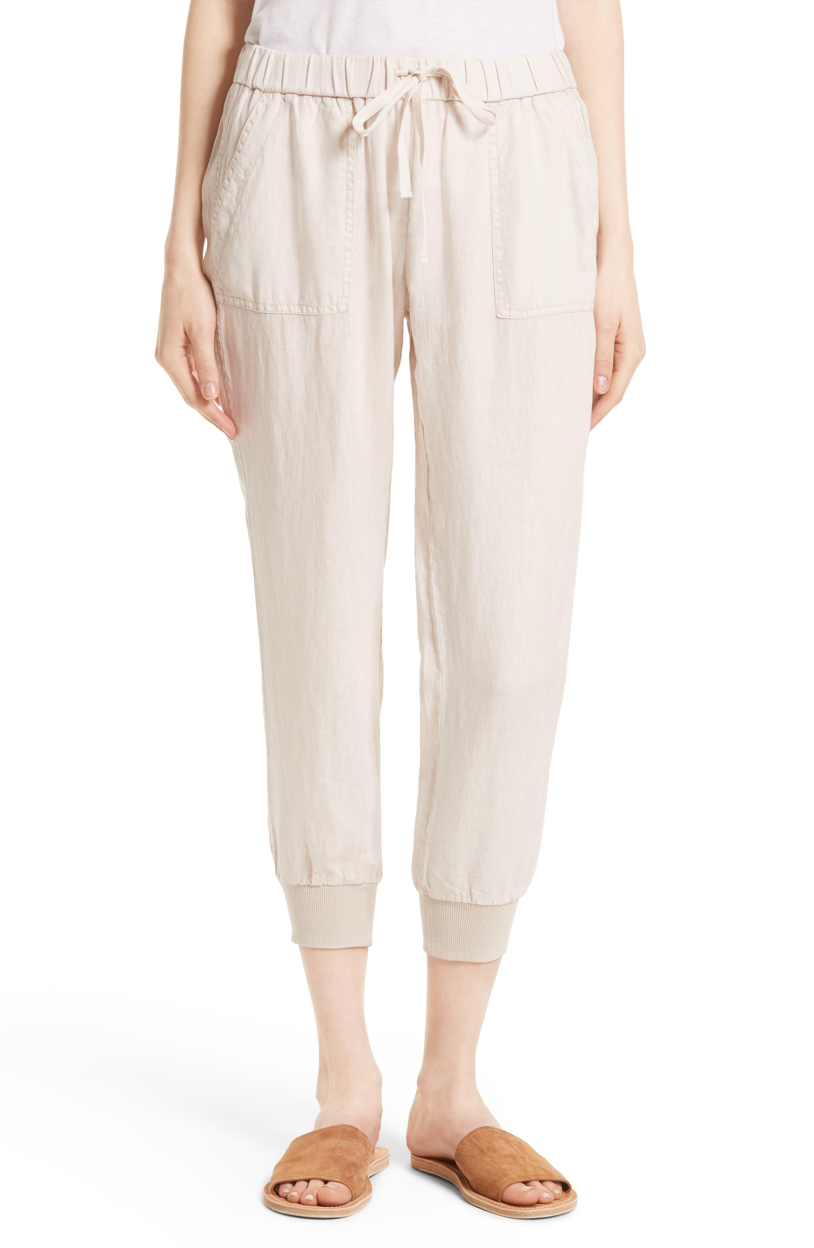 Cyntia Linen Pants,                         Main,                         color, Smokey Quartz