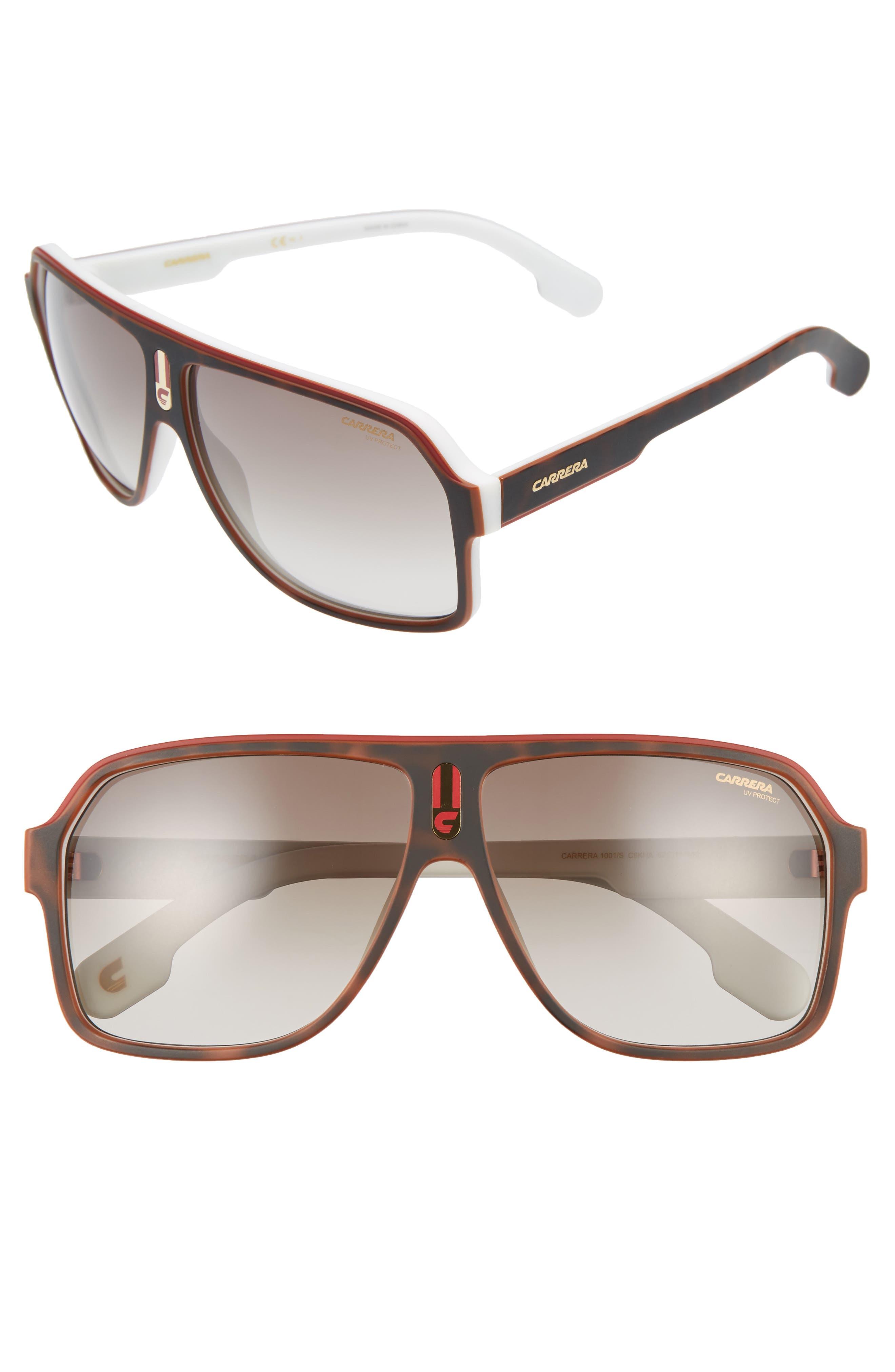 1001/S 62mm Sunglasses,                             Main thumbnail 1, color,                             Havana White/ Brown