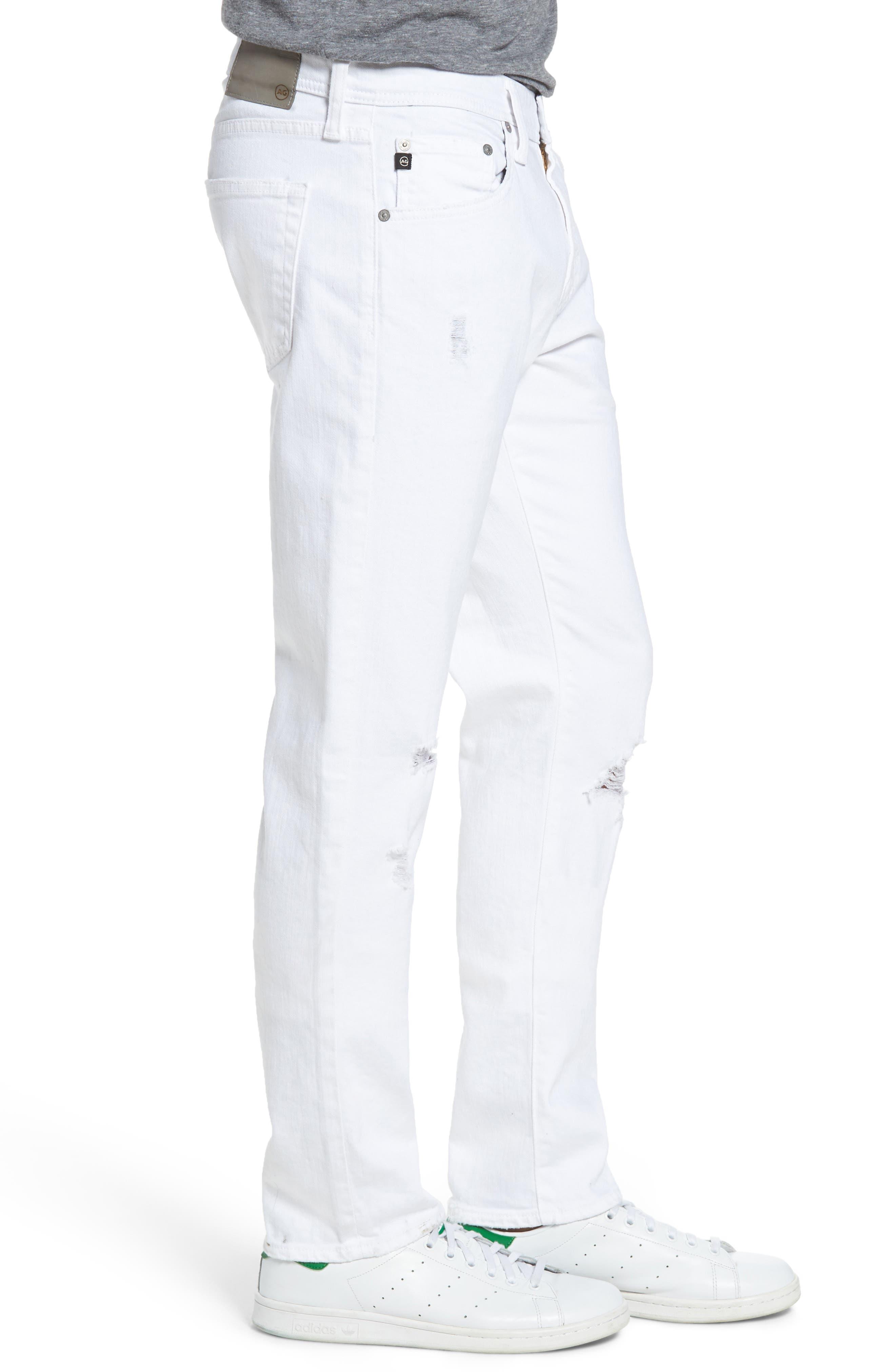Alternate Image 3  - AG Tellis Slim Fit Jeans (Ragged White)