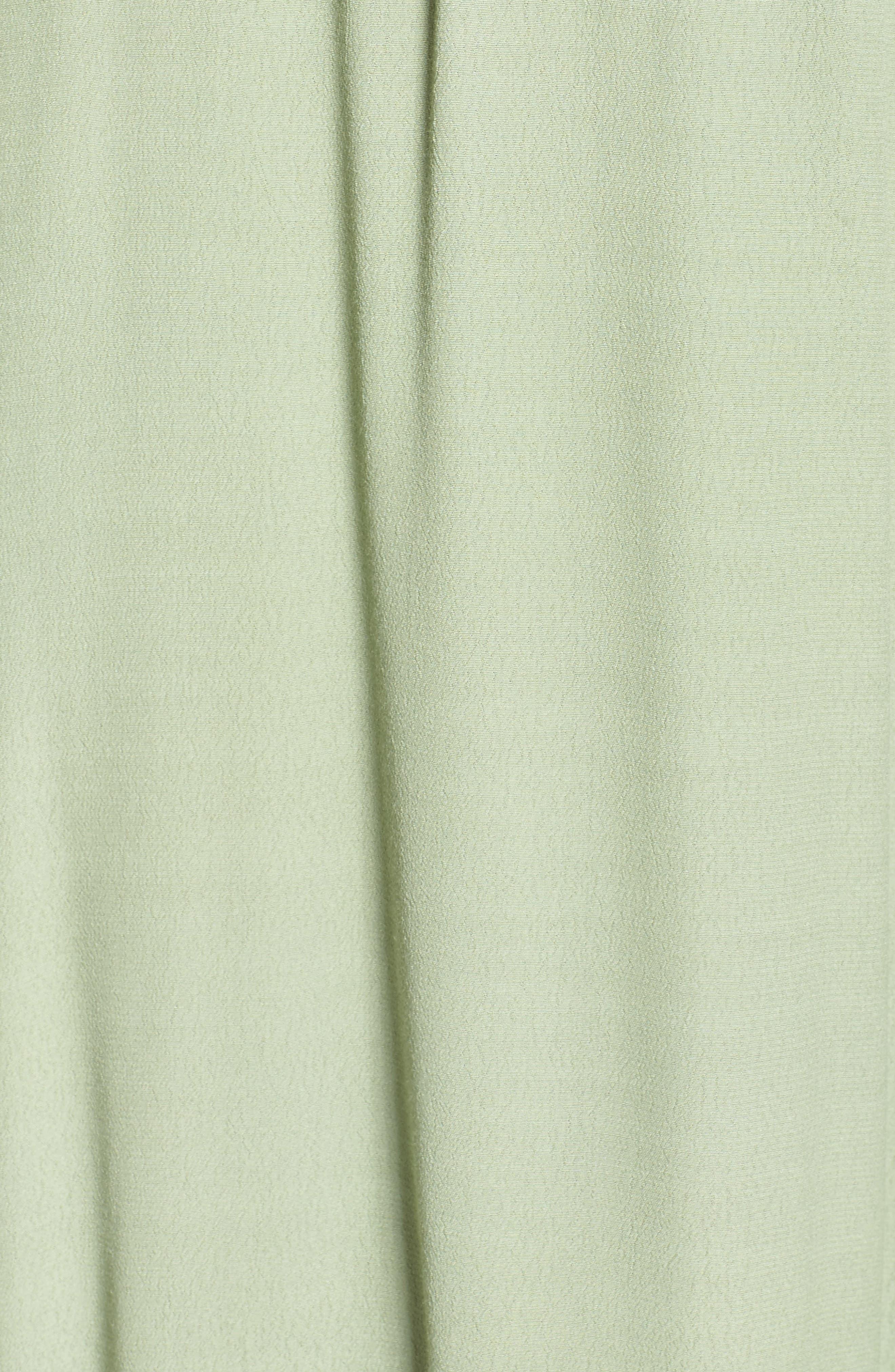 Roe + May Jolie Crepe Peplum Dress,                             Alternate thumbnail 5, color,                             Sage