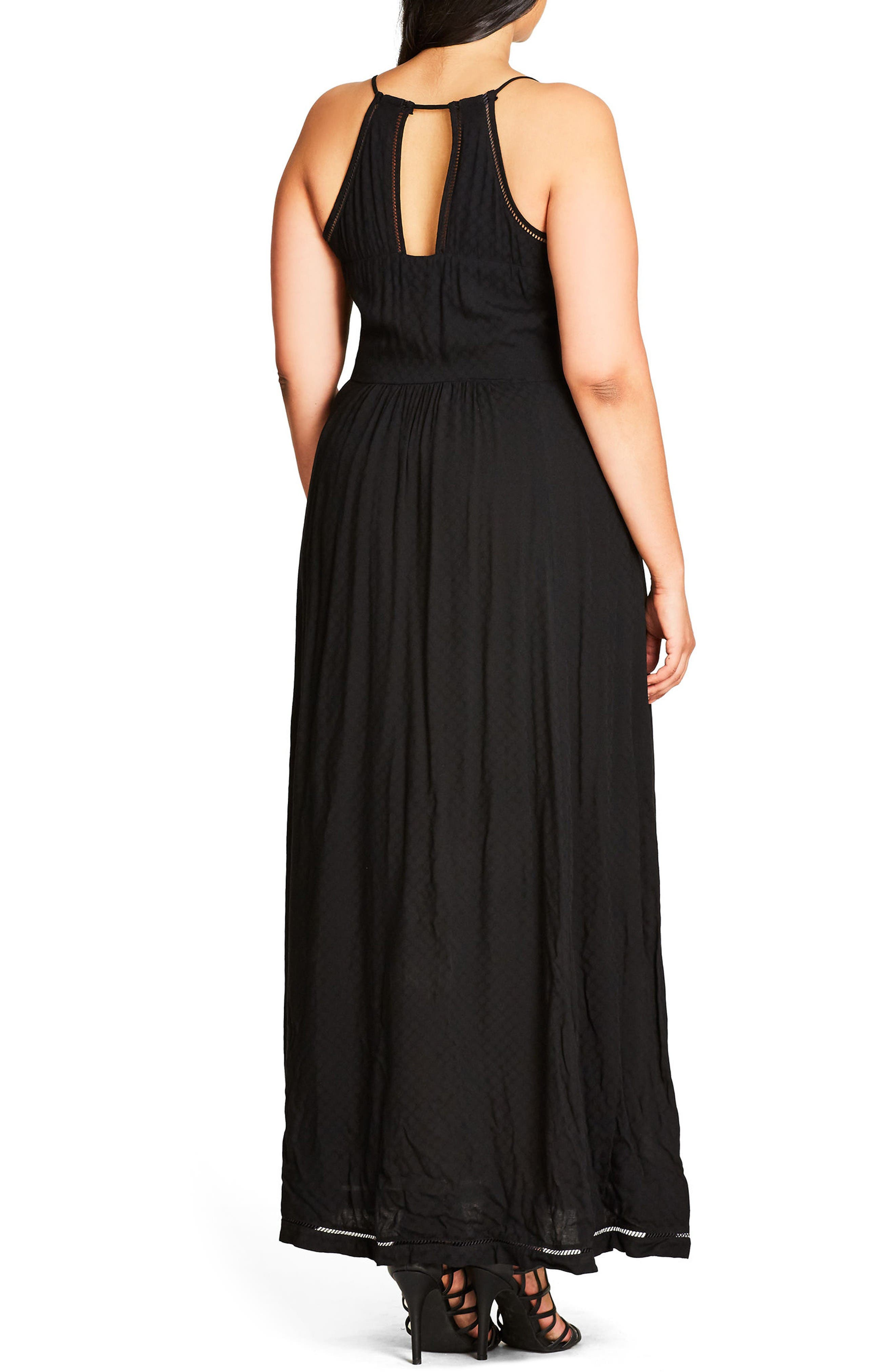Alternate Image 2  - City Chic Picnic Party Maxi Dress (Plus Size)