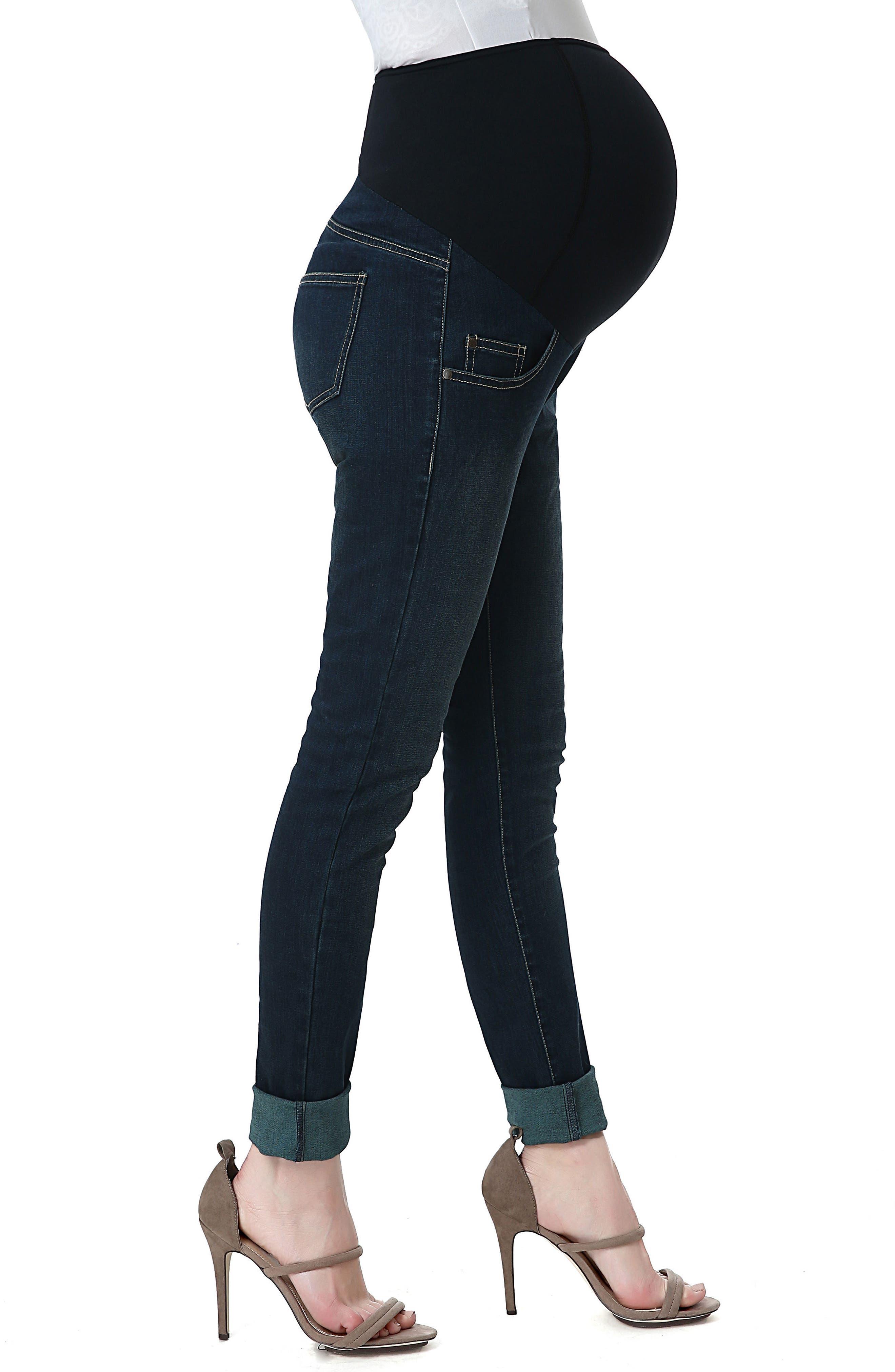 Alternate Image 3  - Kimi and Kai Rae Maternity Skinny Jeans