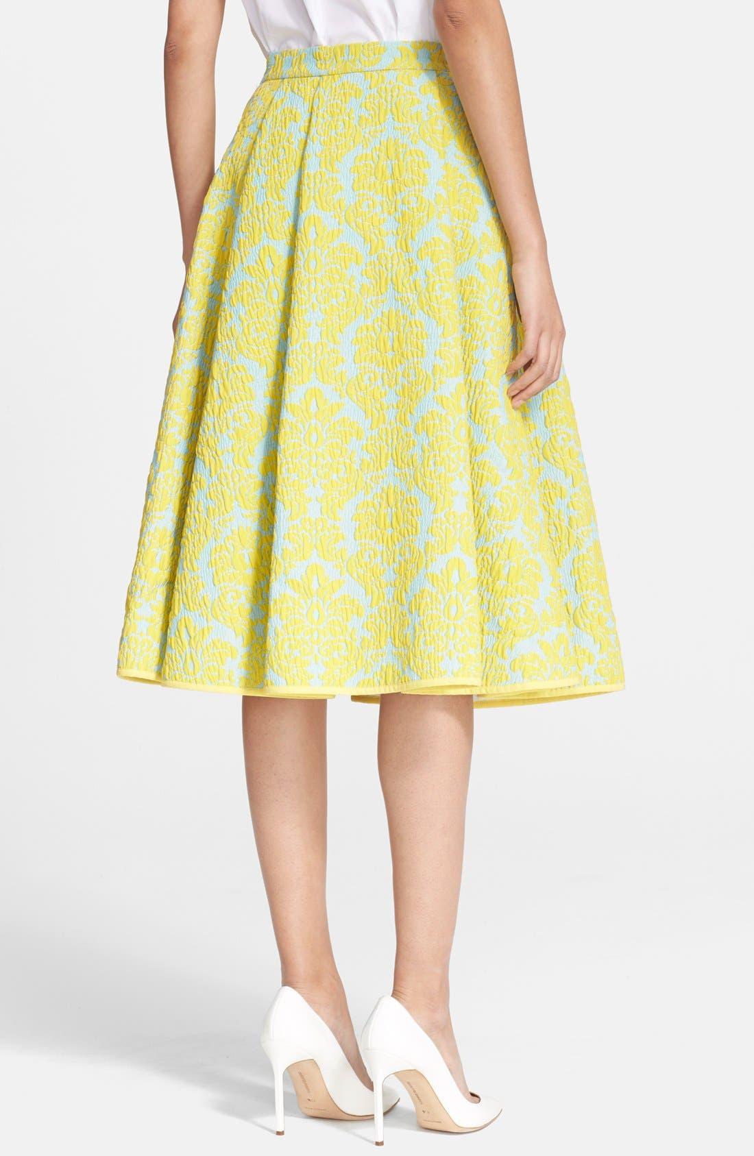 Alternate Image 2  - VIVETTA 'Candy' Brocade A-Line Skirt