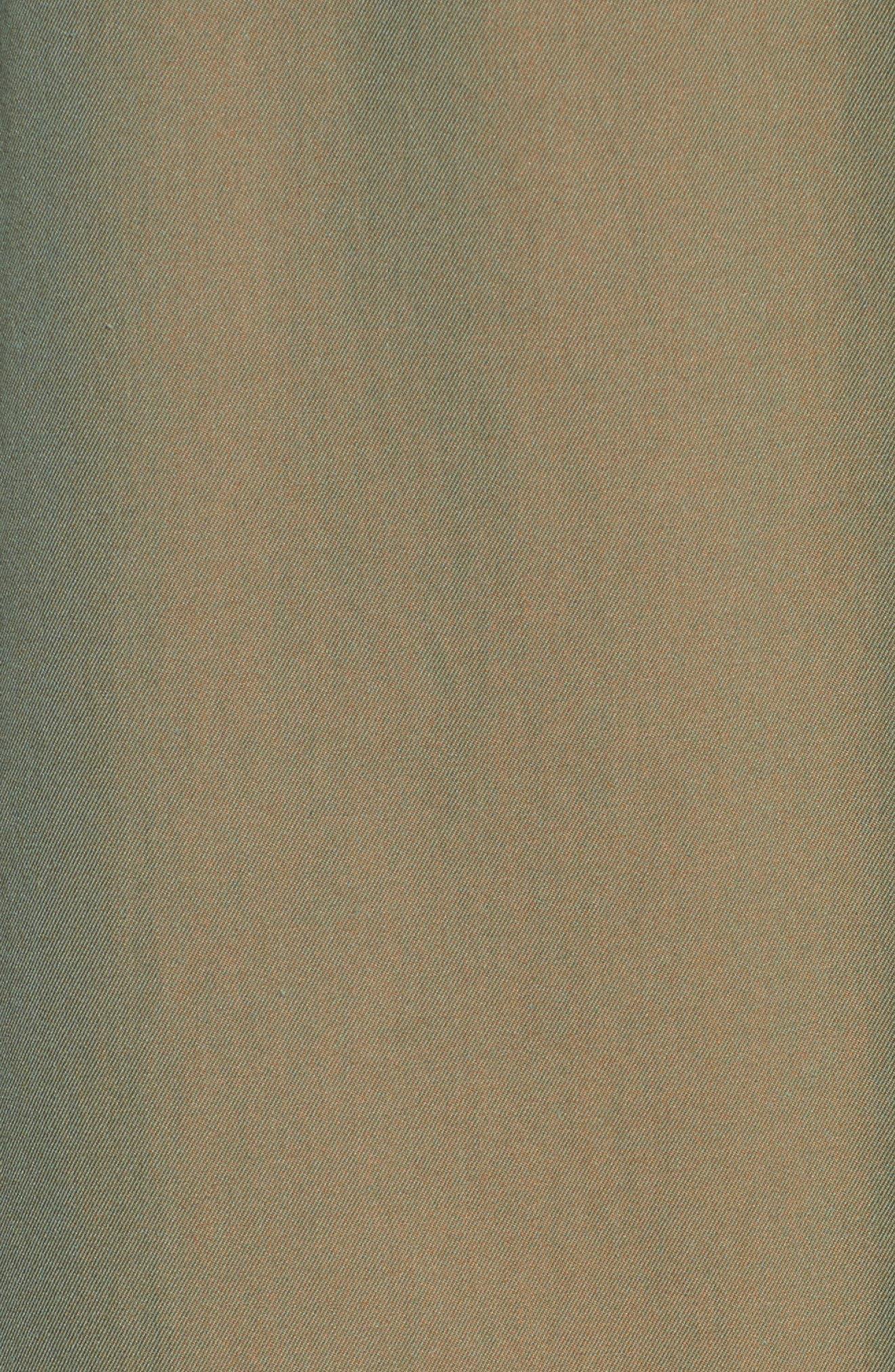 Allensford Raglan Trench Cape,                             Alternate thumbnail 3, color,                             Bright Olive