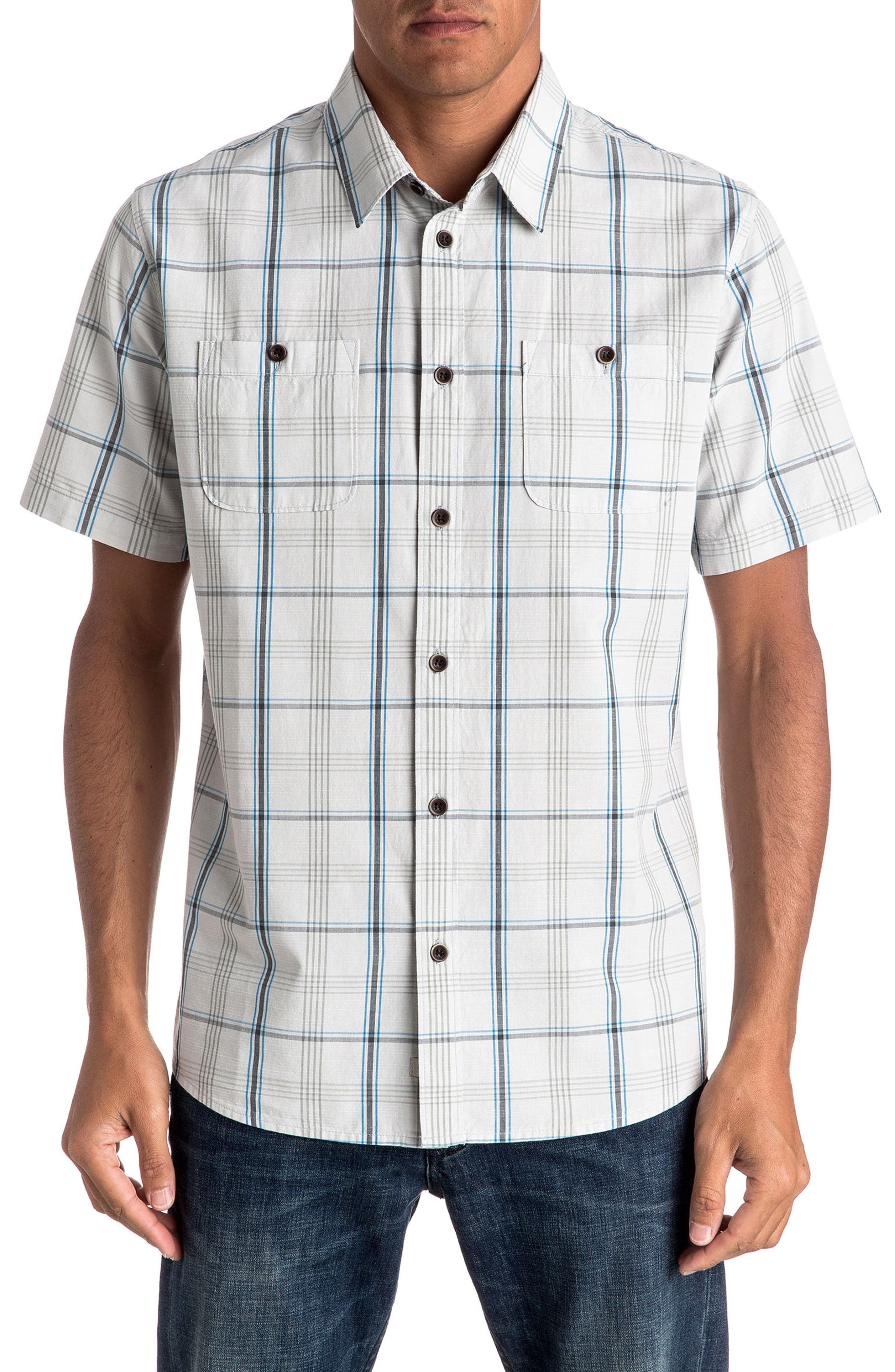 Quiksilver Waterman Collection Reform Tailored Fit Plaid Sport Shirt