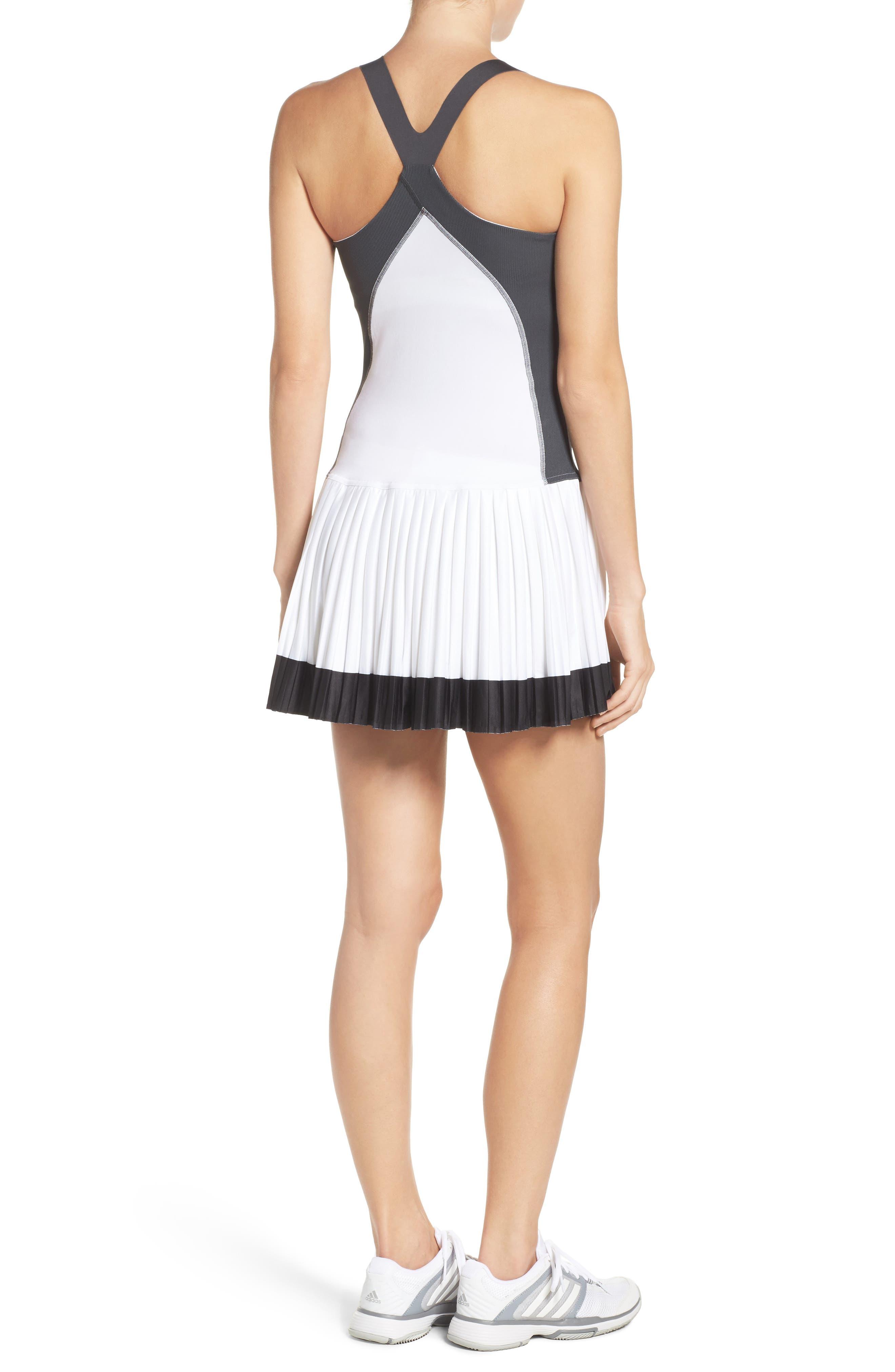 Barricade Tennis Dress & Shorts Set,                             Alternate thumbnail 2, color,                             White/ Solid Grey