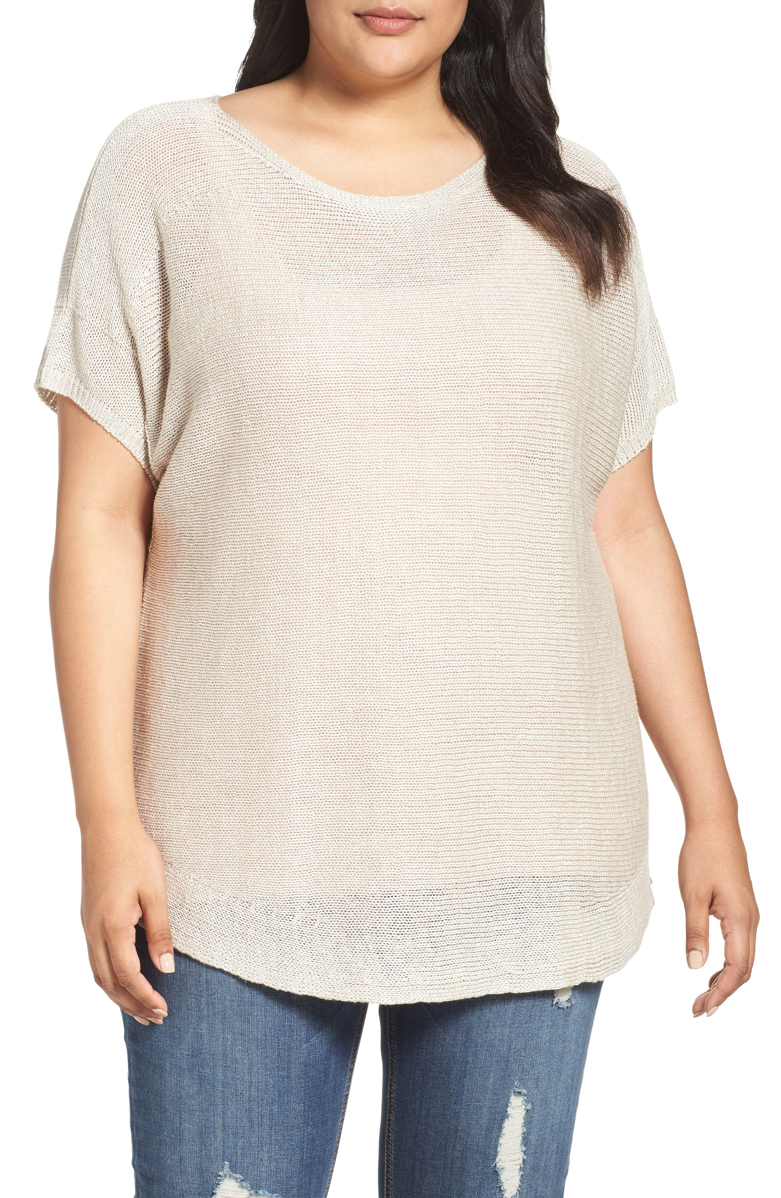 Alternate Image 1 Selected - Tart Padma Linen Blend Sweater (Plus Size)