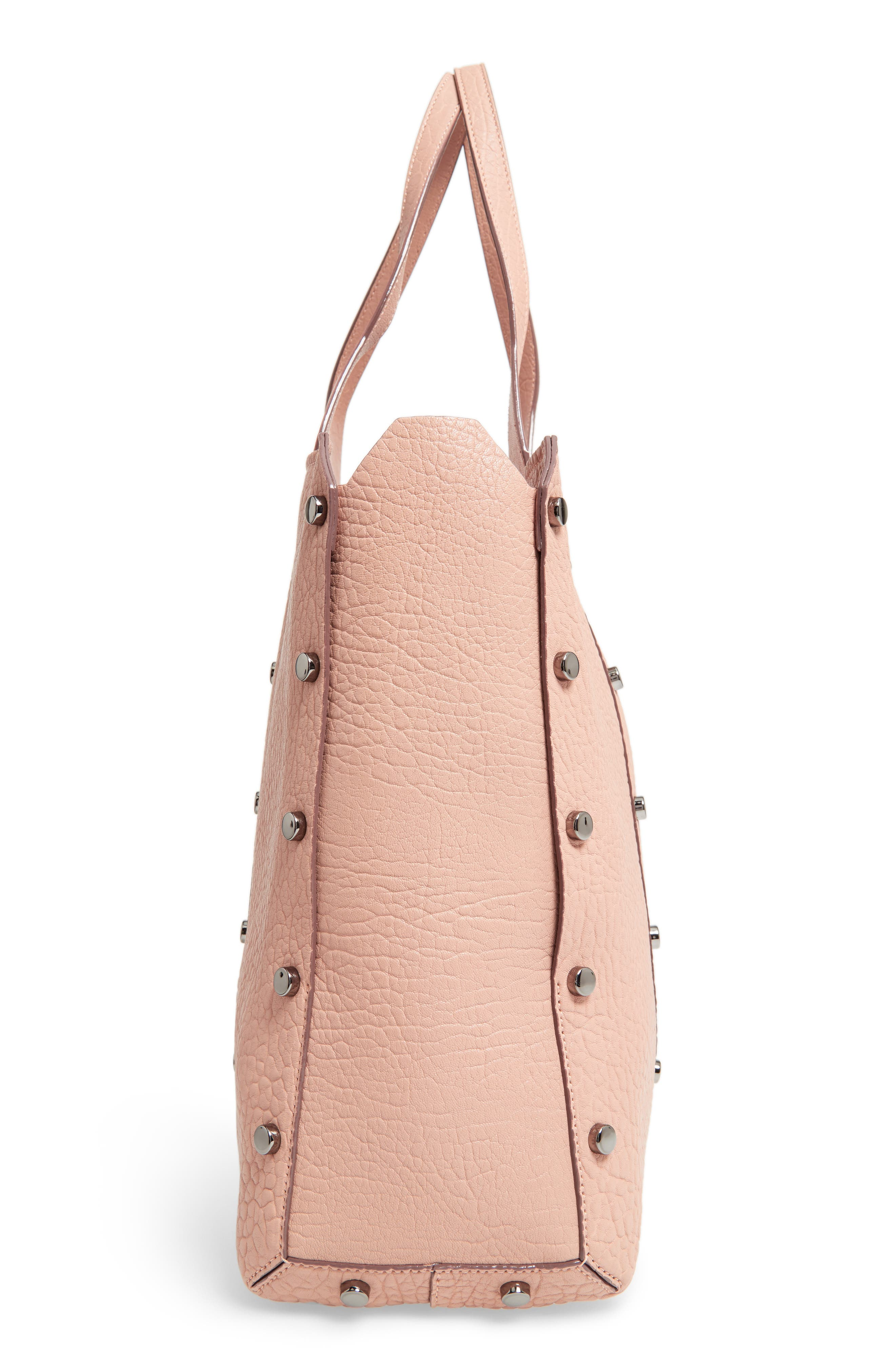 Lockett Leather Shopper,                             Alternate thumbnail 5, color,                             Ballet Pink