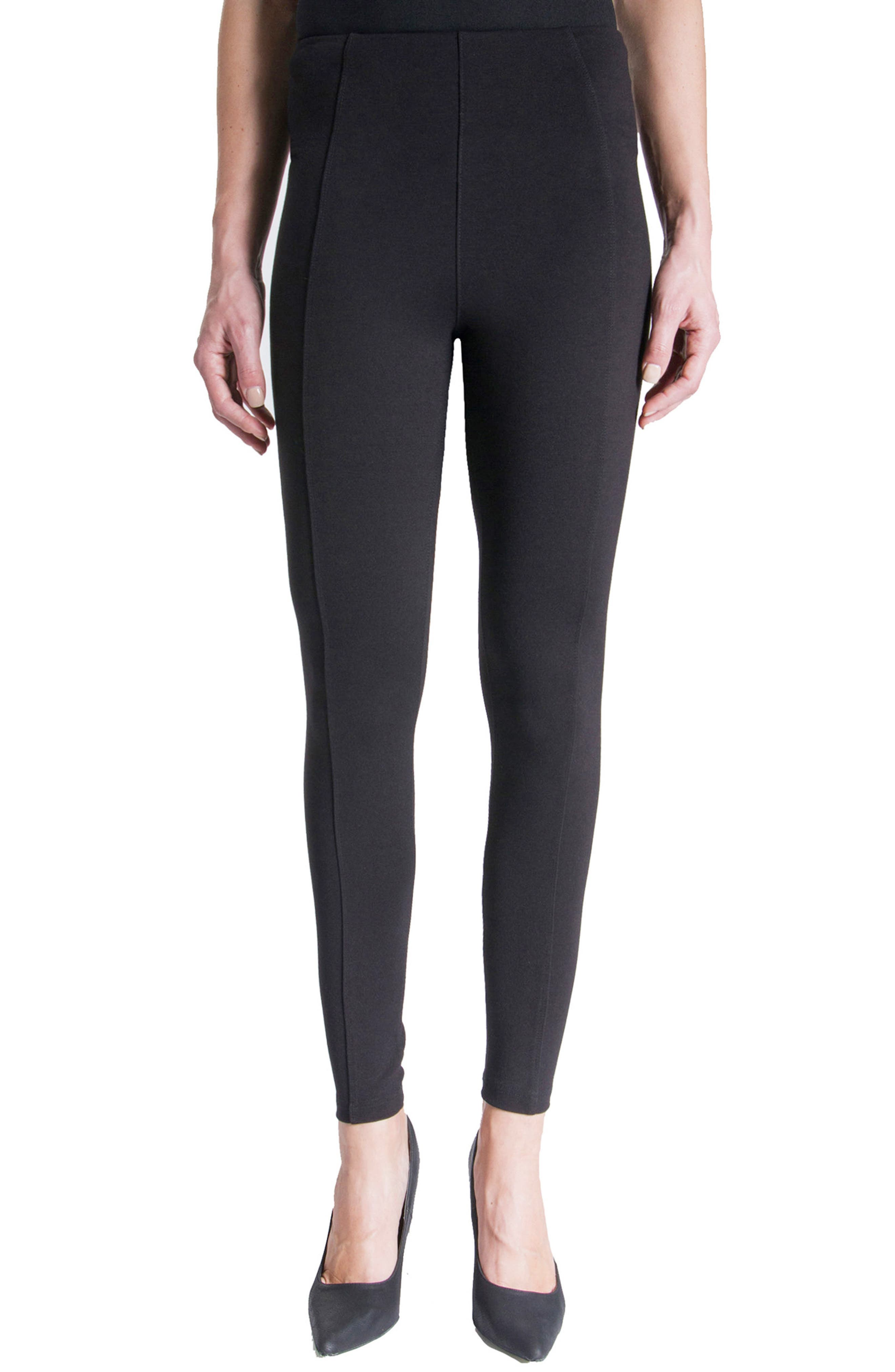 Reese Stretch Knit Leggings,                         Main,                         color, Black