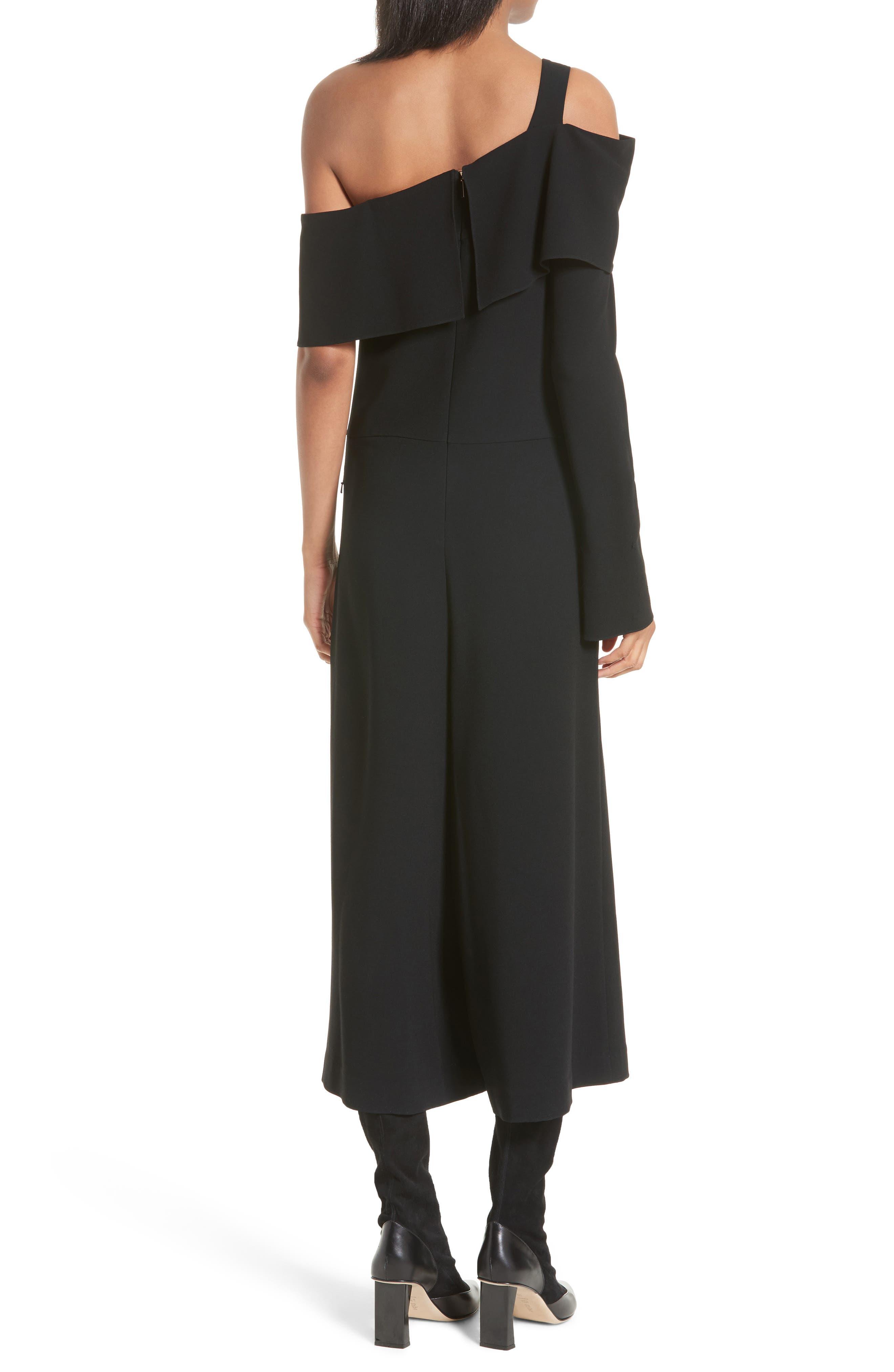 Alternate Image 2  - Tibi Off the Shoulder Crop Jumpsuit