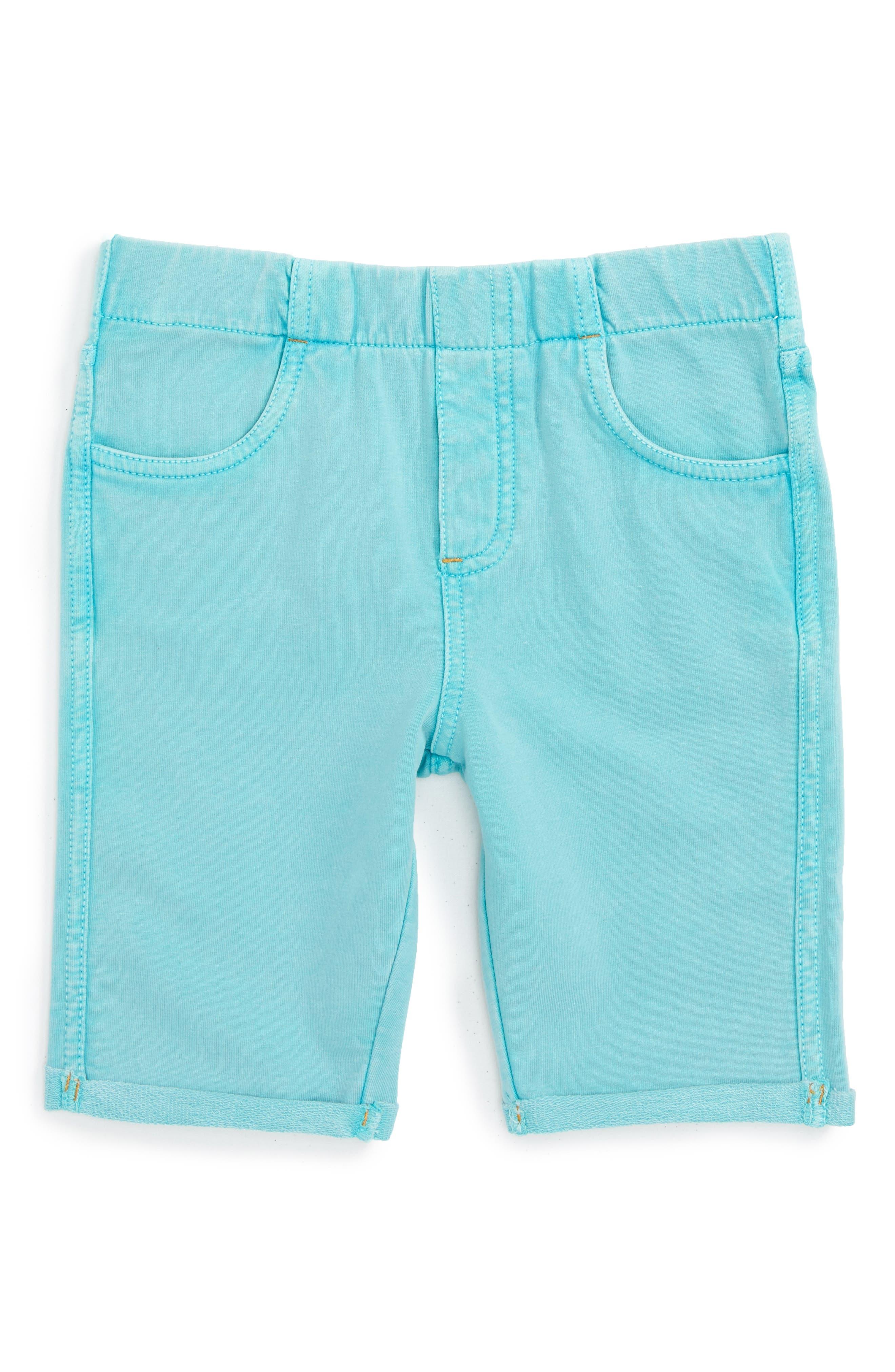 'Jenna' Jegging Shorts,                             Main thumbnail 1, color,                             Teal Gem Wash