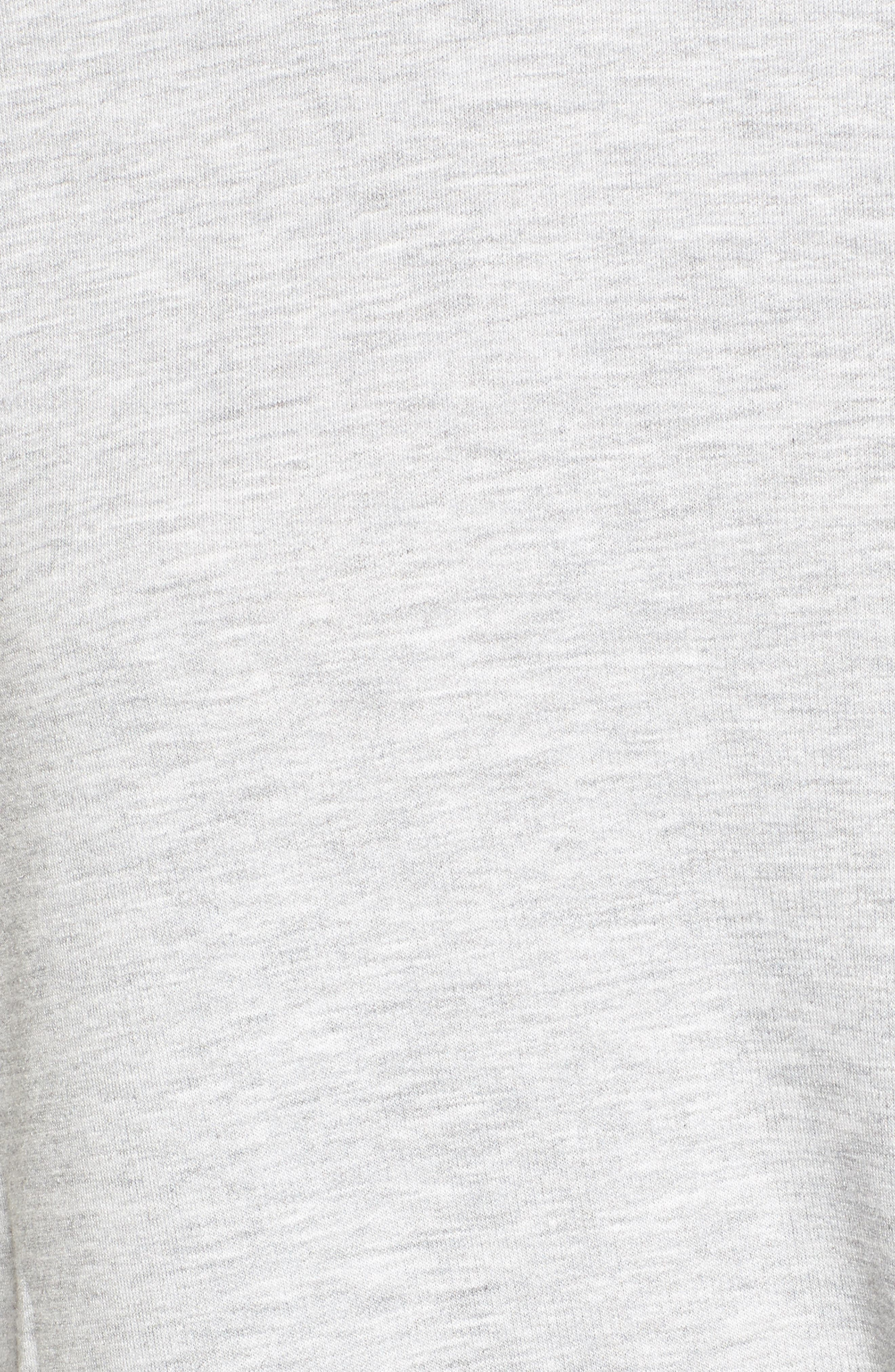 High/Low Tunic,                             Alternate thumbnail 6, color,                             Heather Grey
