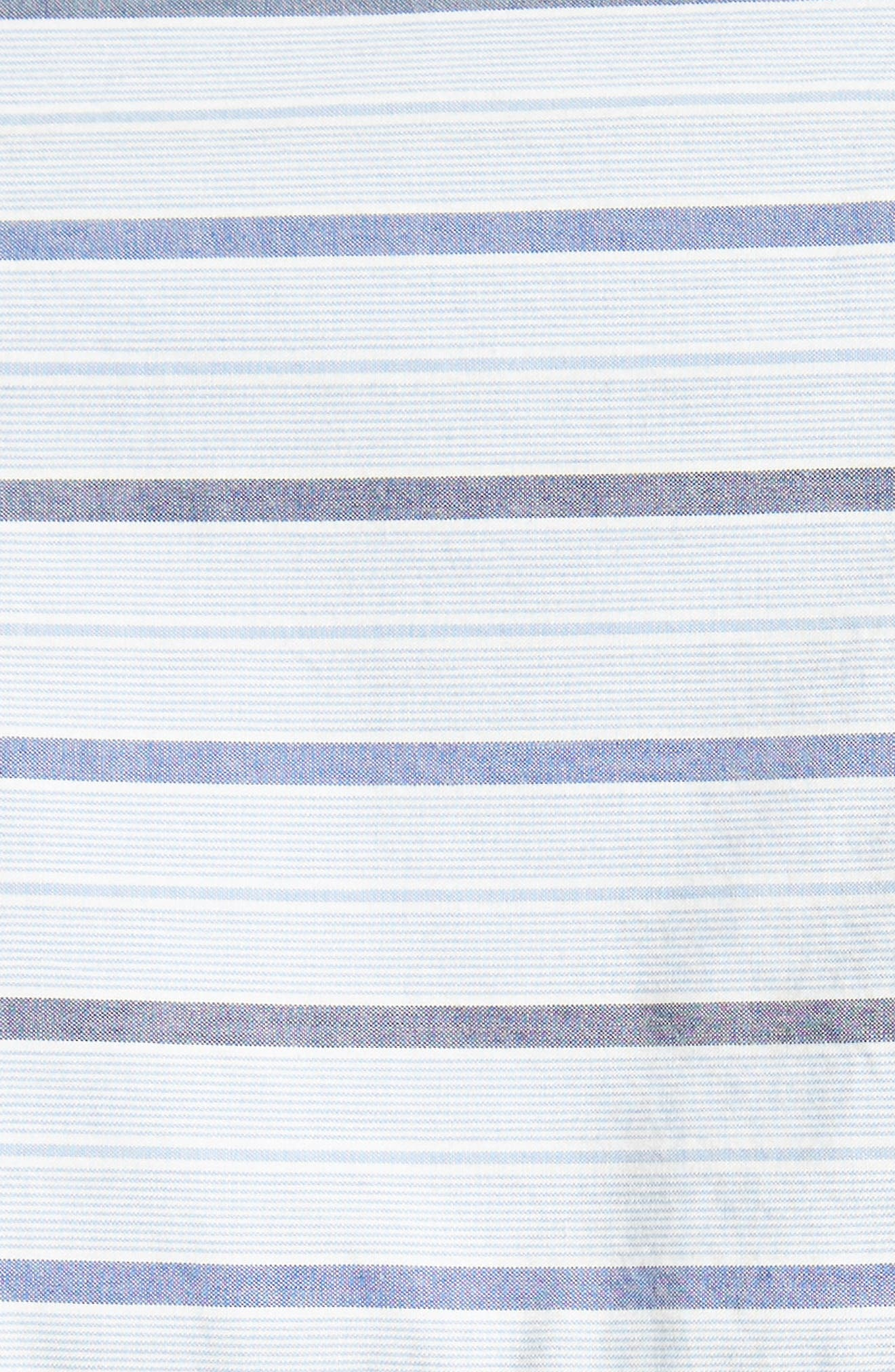 Garçon Stripe Easy Shirt,                             Alternate thumbnail 8, color,                             Blue/ Navy Multi