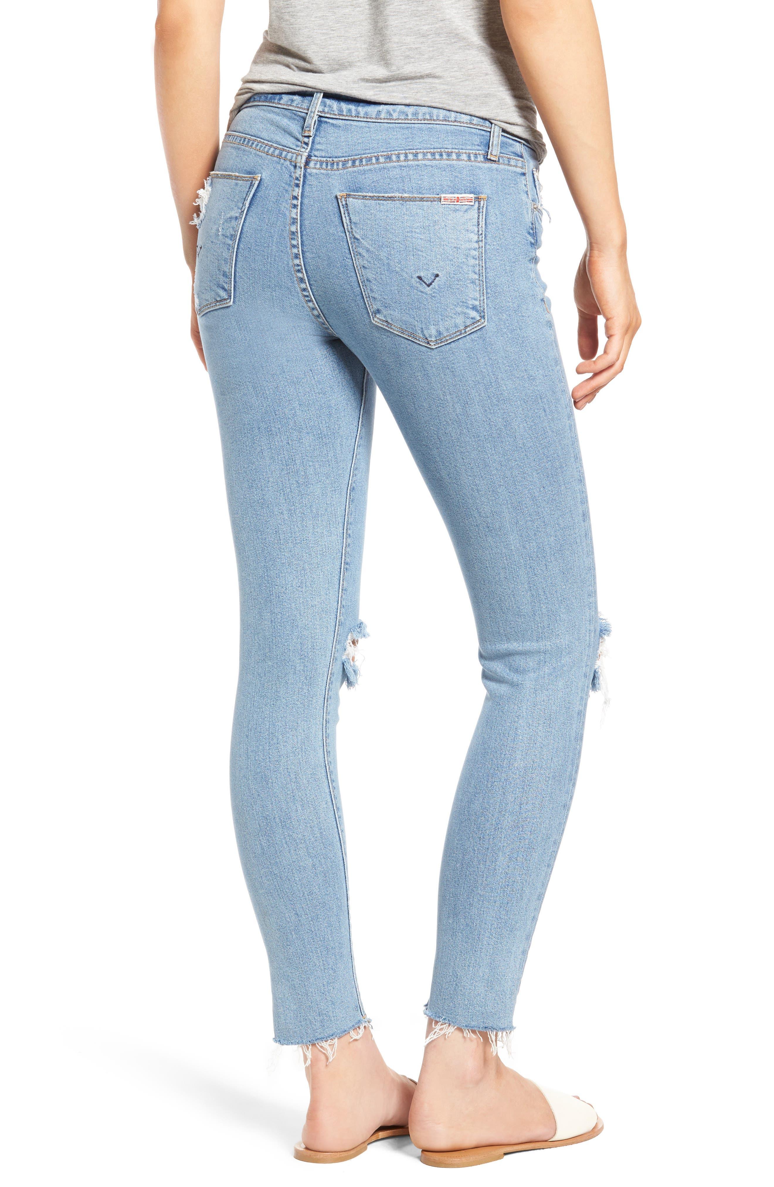 Nico Raw Hem Ankle Super Skinny Jeans,                             Alternate thumbnail 2, color,                             Hooligan