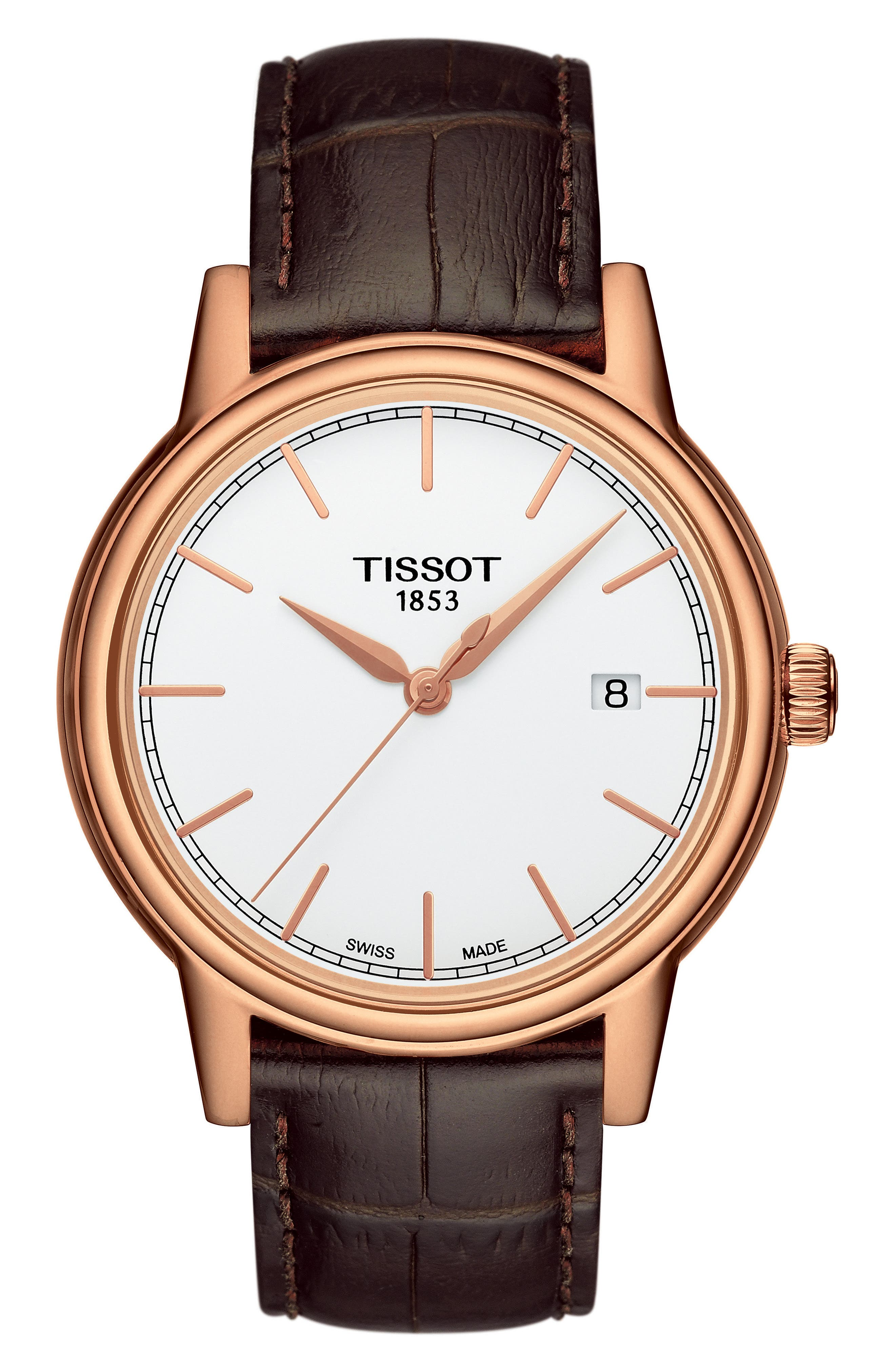 Alternate Image 1 Selected - Tissot Carson Leather Strap Watch, 39mm